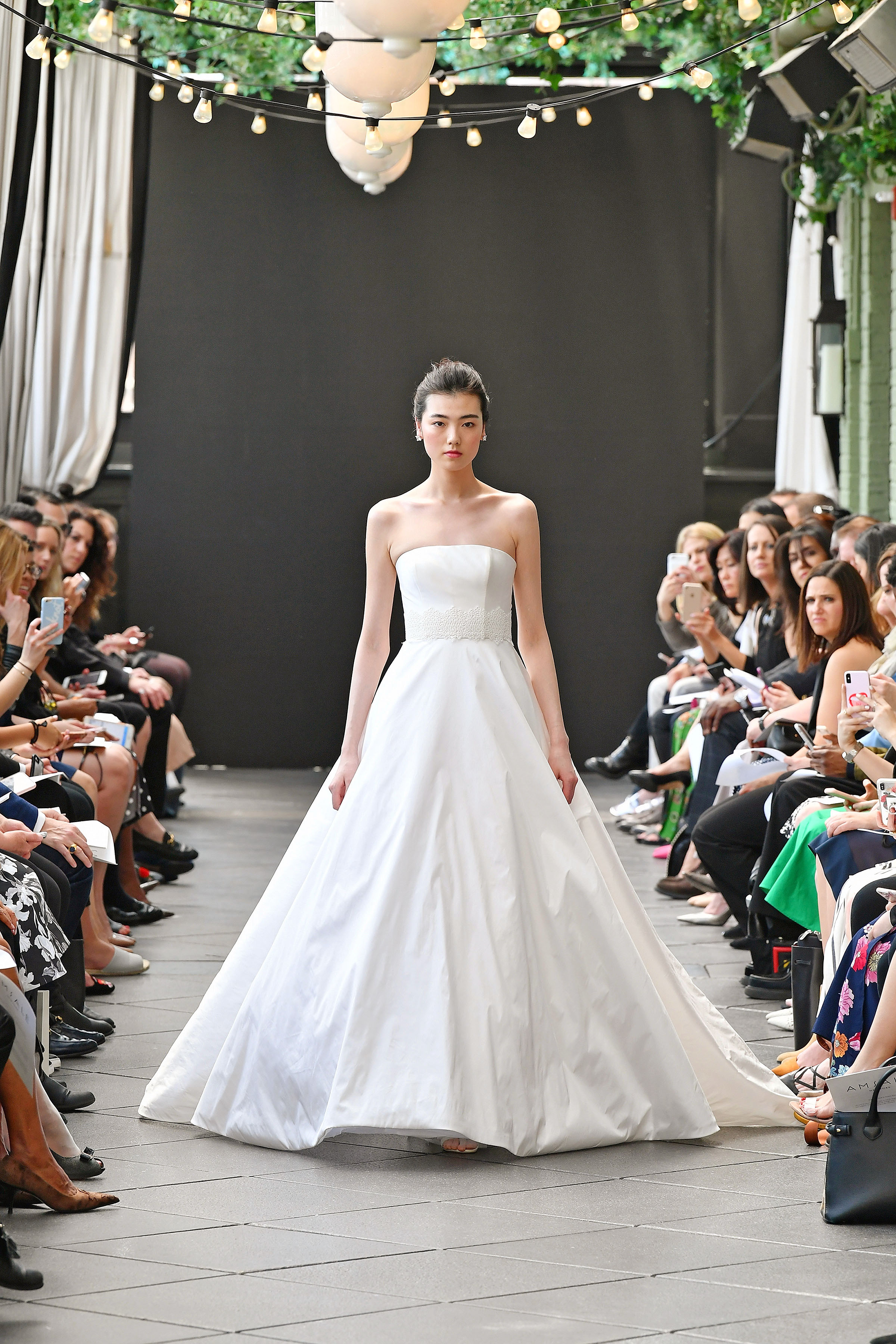nouvelle amsale wedding dress spring 2019 strapless a-line