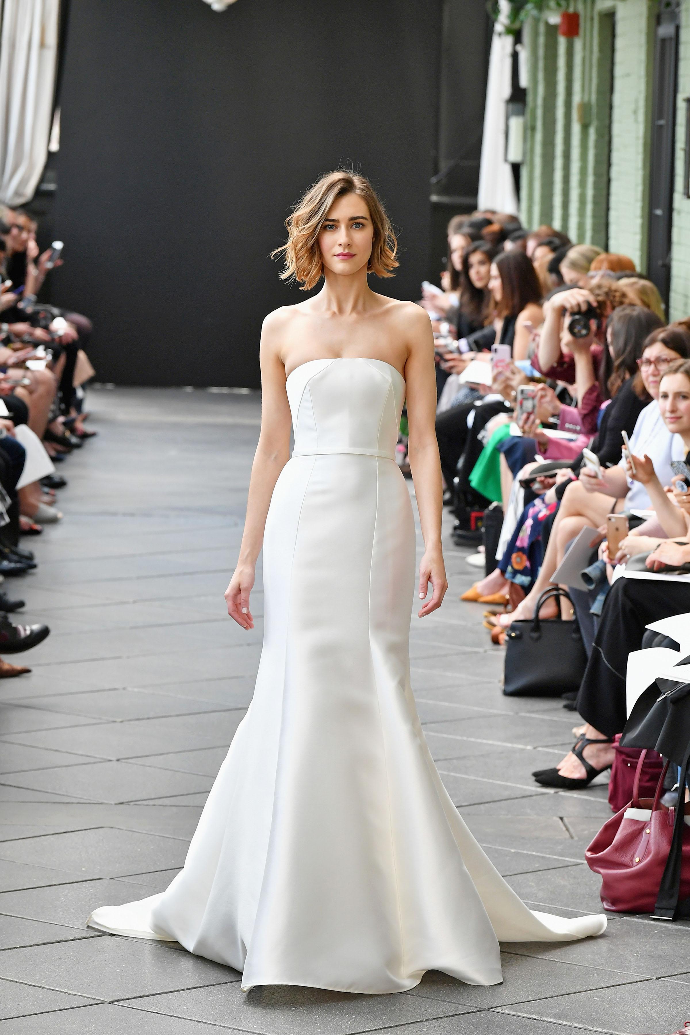 nouvelle amsale wedding dress spring 2019 strapless mermaid