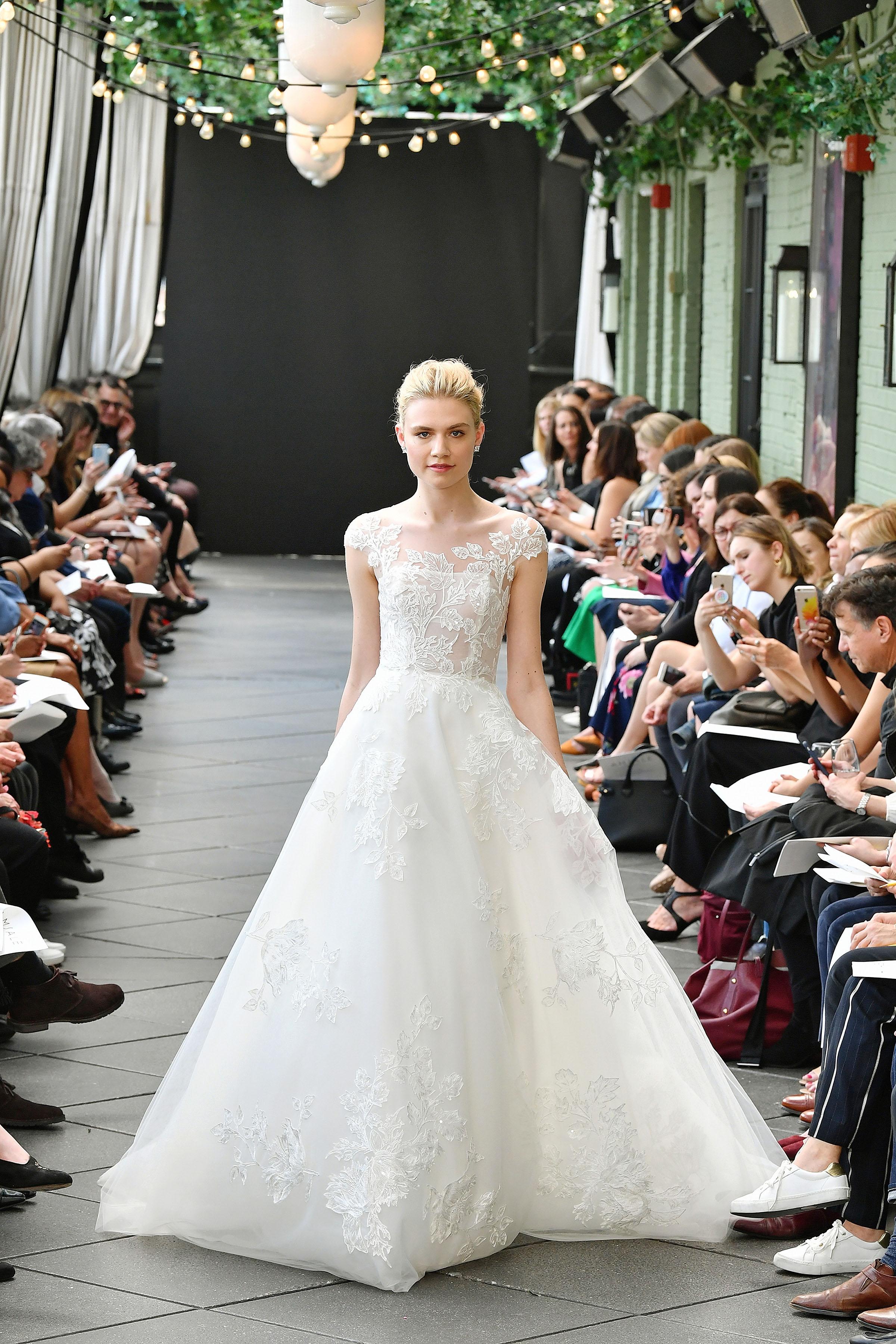 nouvelle amsale wedding dress spring 2019 floral a-line