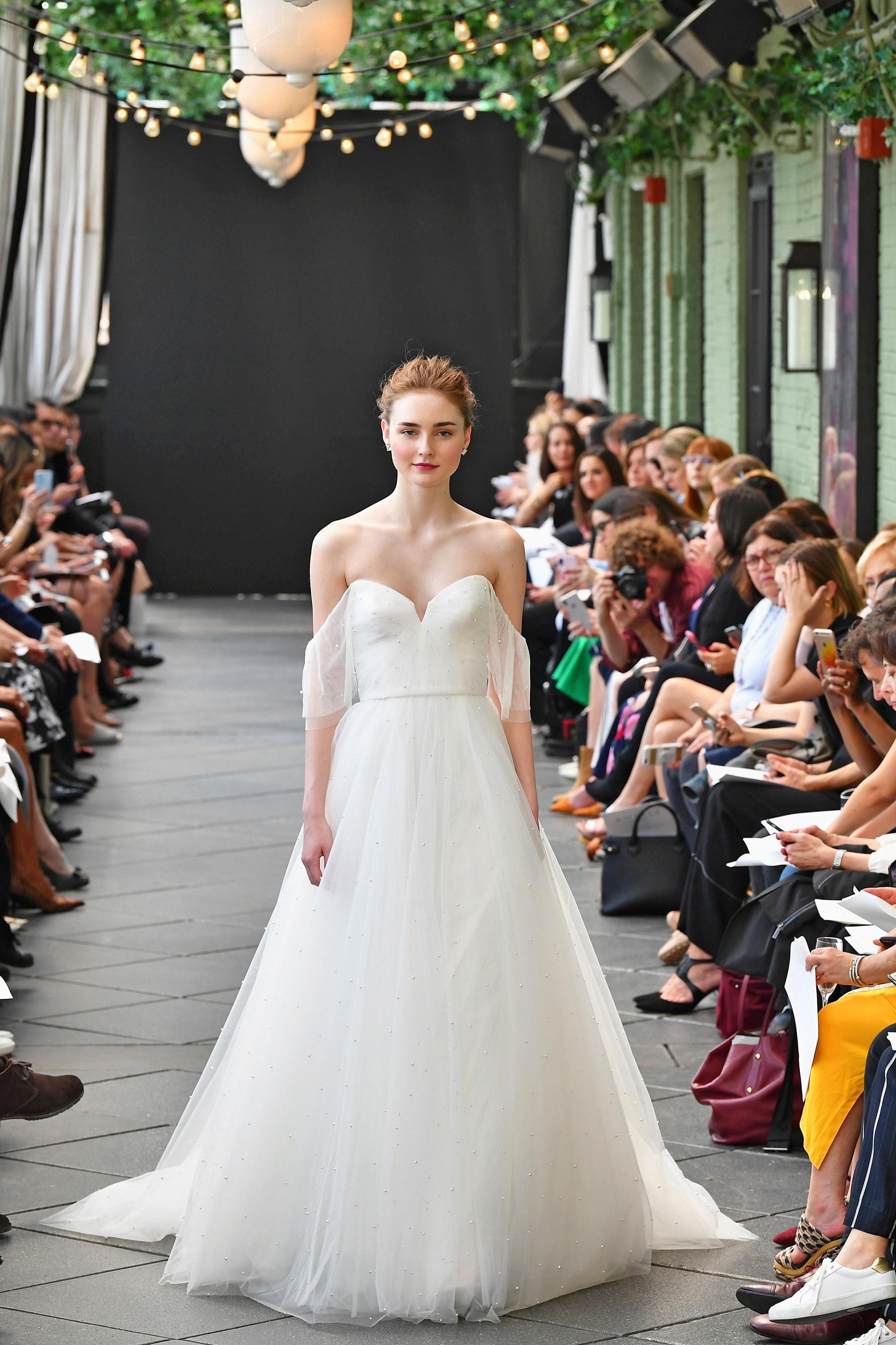 nouvelle amsale wedding dress spring 2019 off-the-shoulder sweetheart