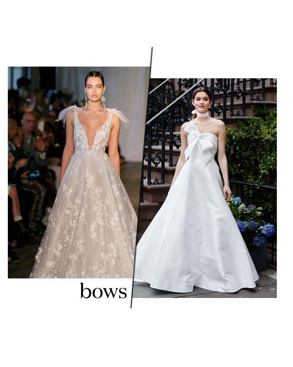 Spring 2019 Bridal Fashion Week Bows Trend