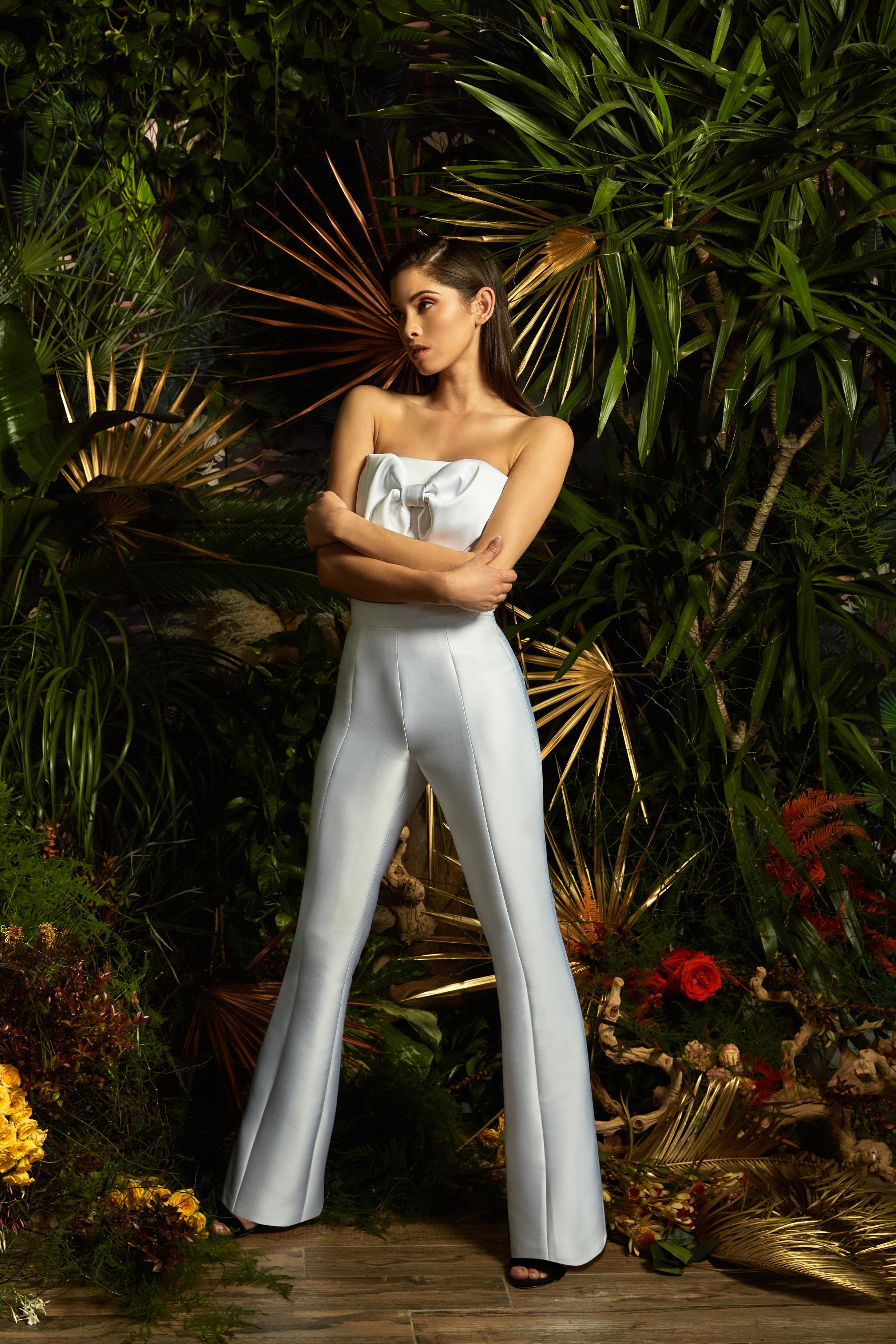 lakum wedding dress spring 2019 strapless pant suit