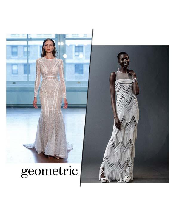 Spring 2019 Bridal Fashion Week Geometric Trend