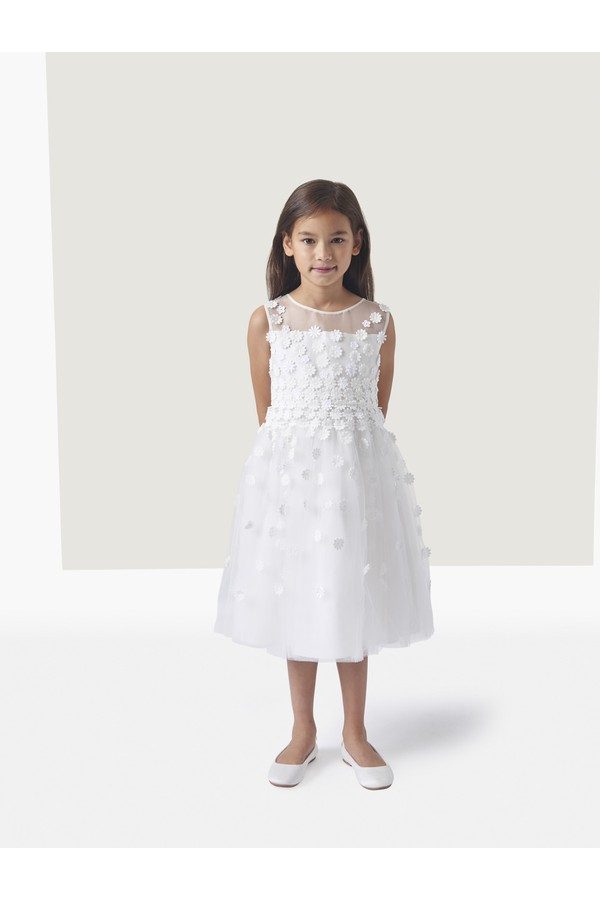 Oscar de la Renta Kids Floral Dress, Sleeveless Flower Girl Dresses
