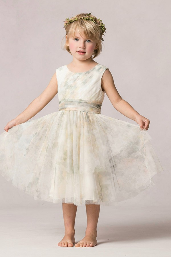 "Sleeveless Flower Girl Dress, Jenny Yoo ""Etsy"""