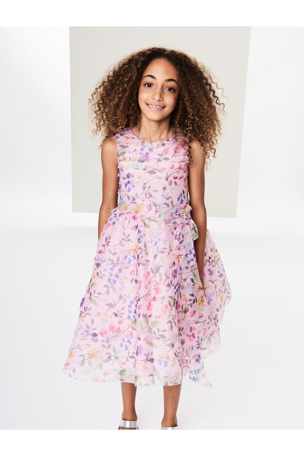 Sleeveless Floral Oscar de la Renta Kids Flower Girl Dress