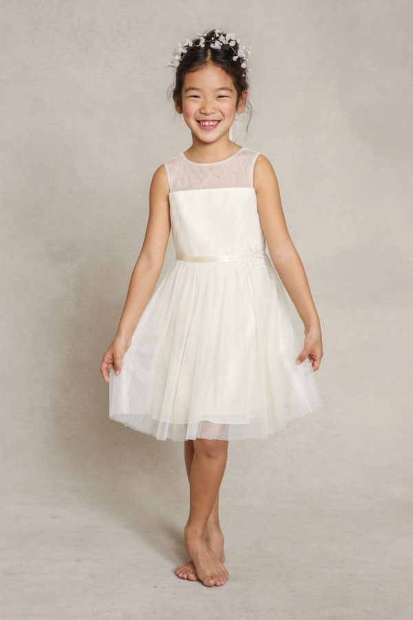 "Sleeveless Flower Girl Dress, Jenny Yoo ""Zoe"""