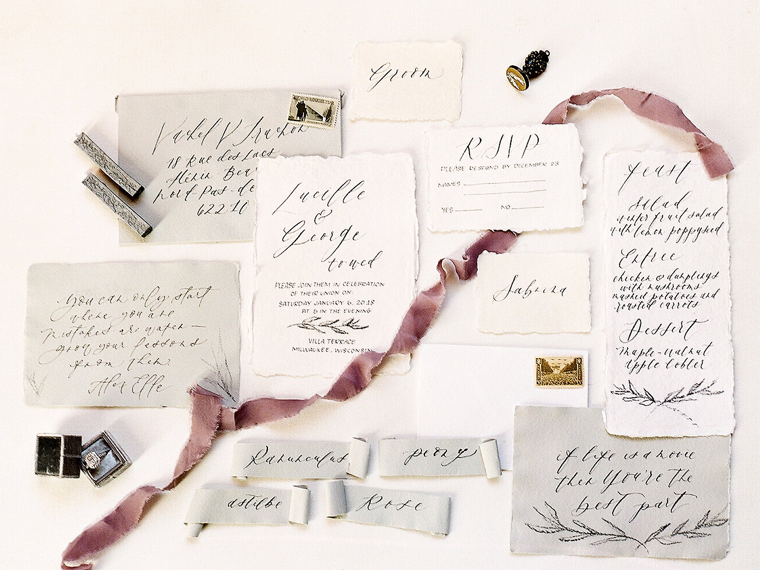 Add Pen Calligraphy to Your Invites