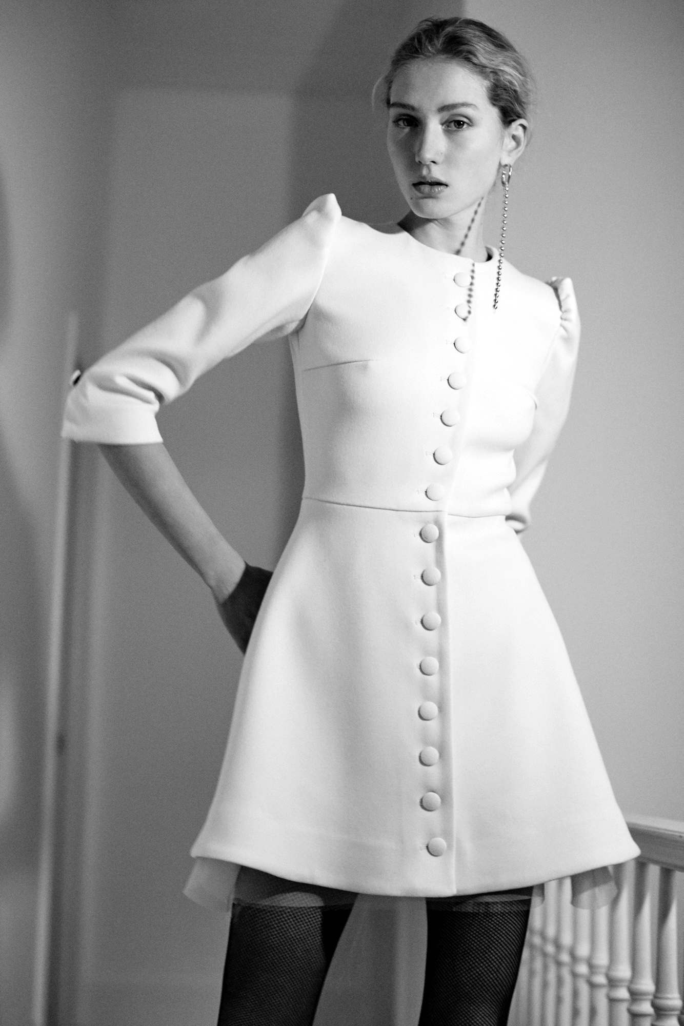 Lein wedding dress spring 2019 short a-line jacket dress with buttons