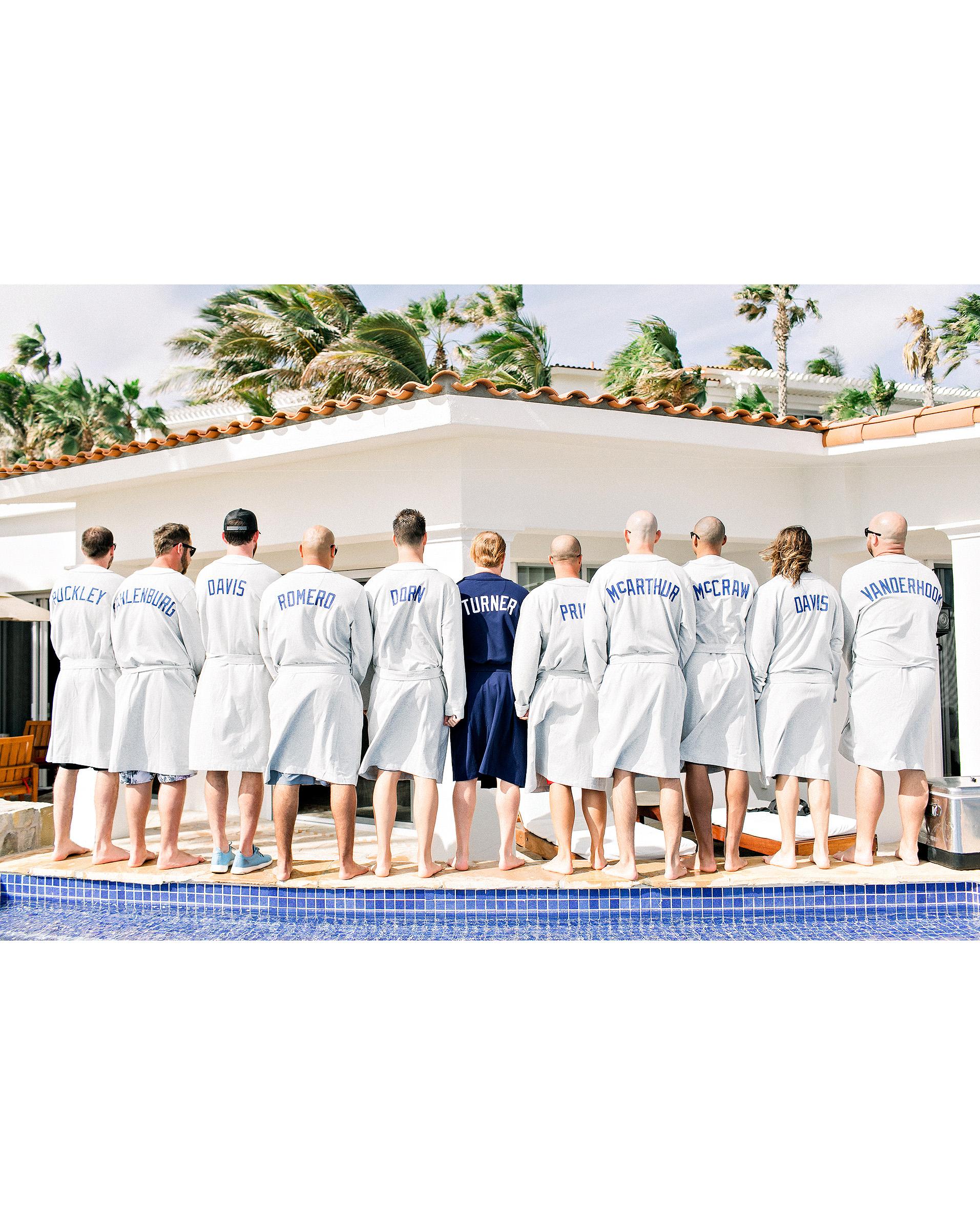 kourtney justin wedding mexico custom robes