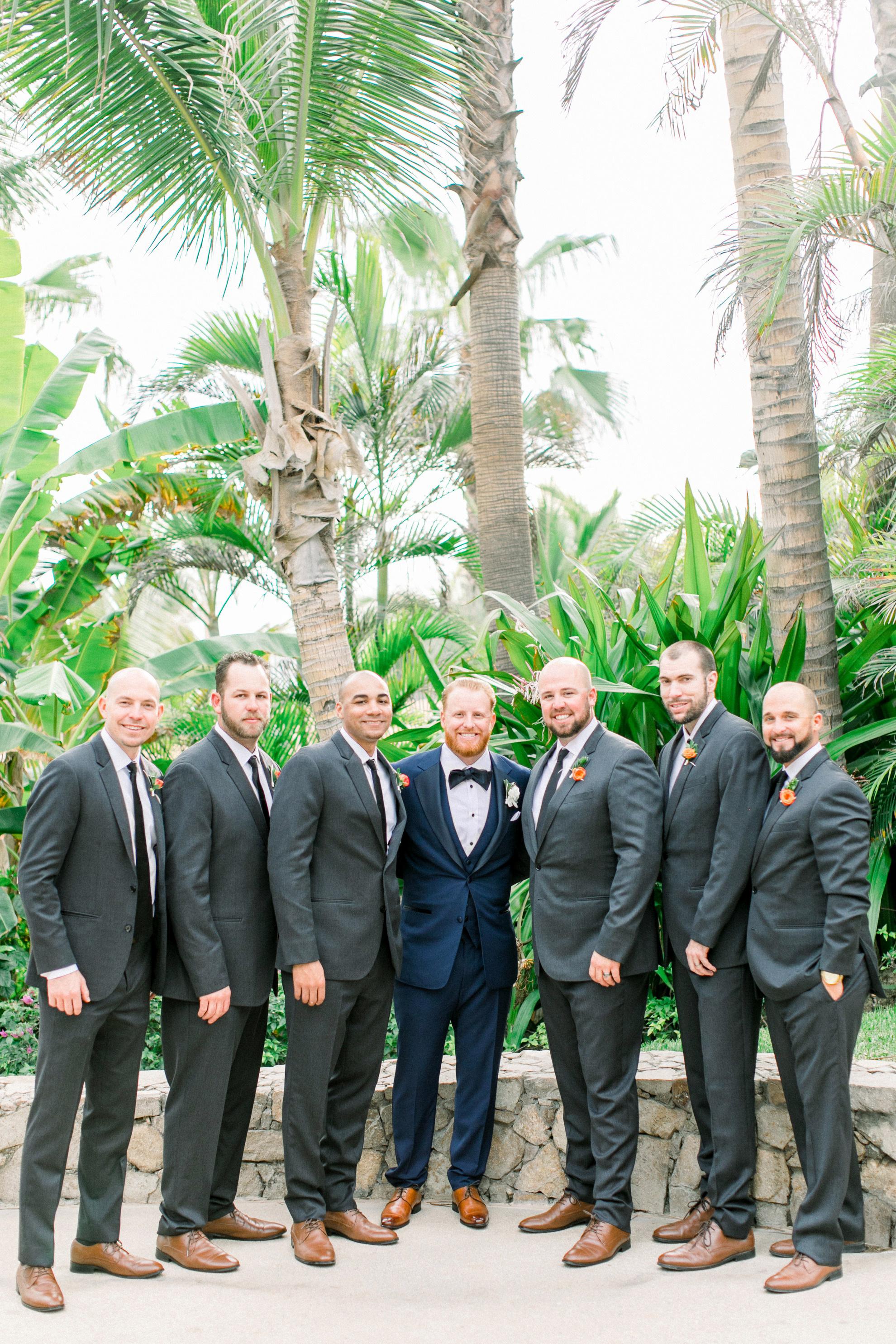 kourtney justin wedding mexico groomsmen
