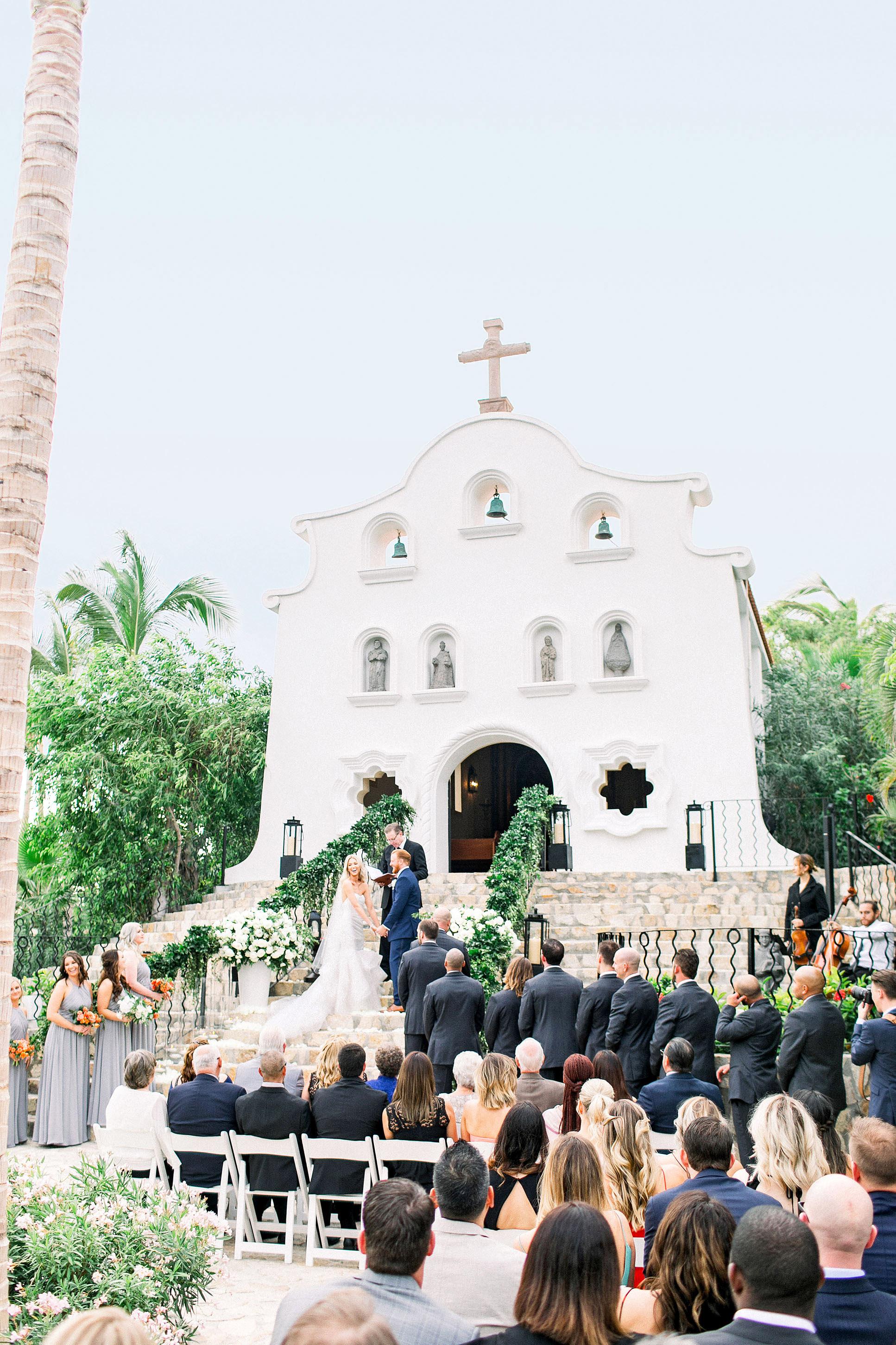 kourtney justin wedding mexico ceremony outdoor church