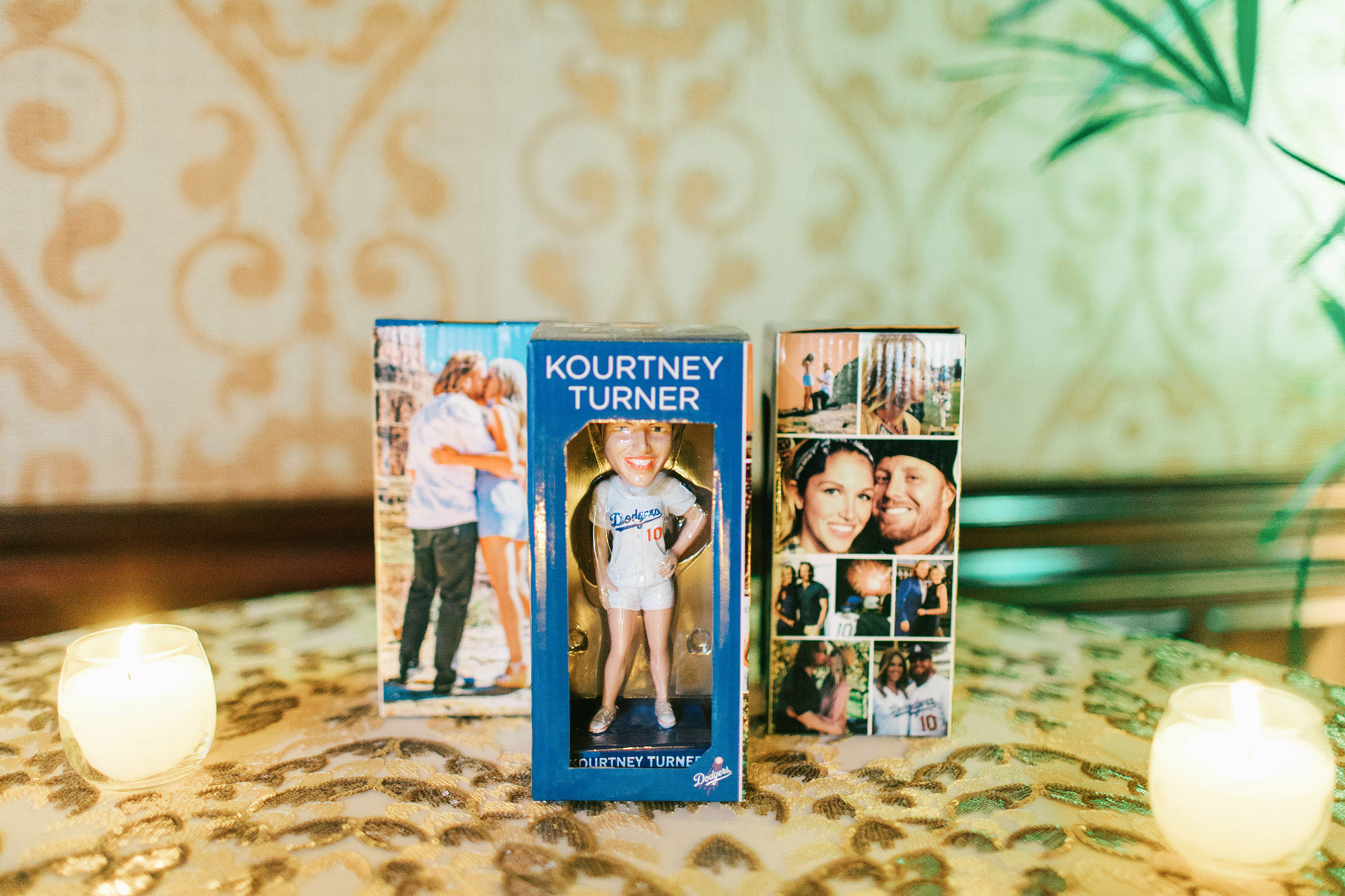 kourtney justin wedding mexico bobble heads