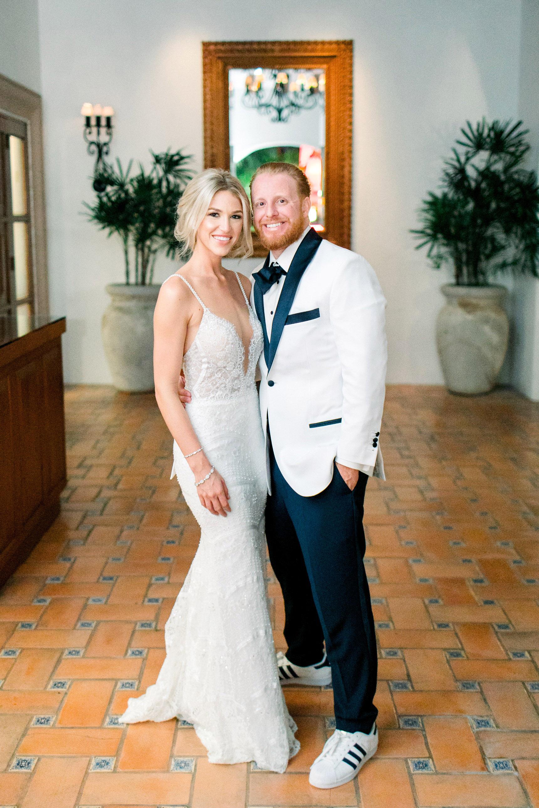 kourtney justin wedding mexico couple posing