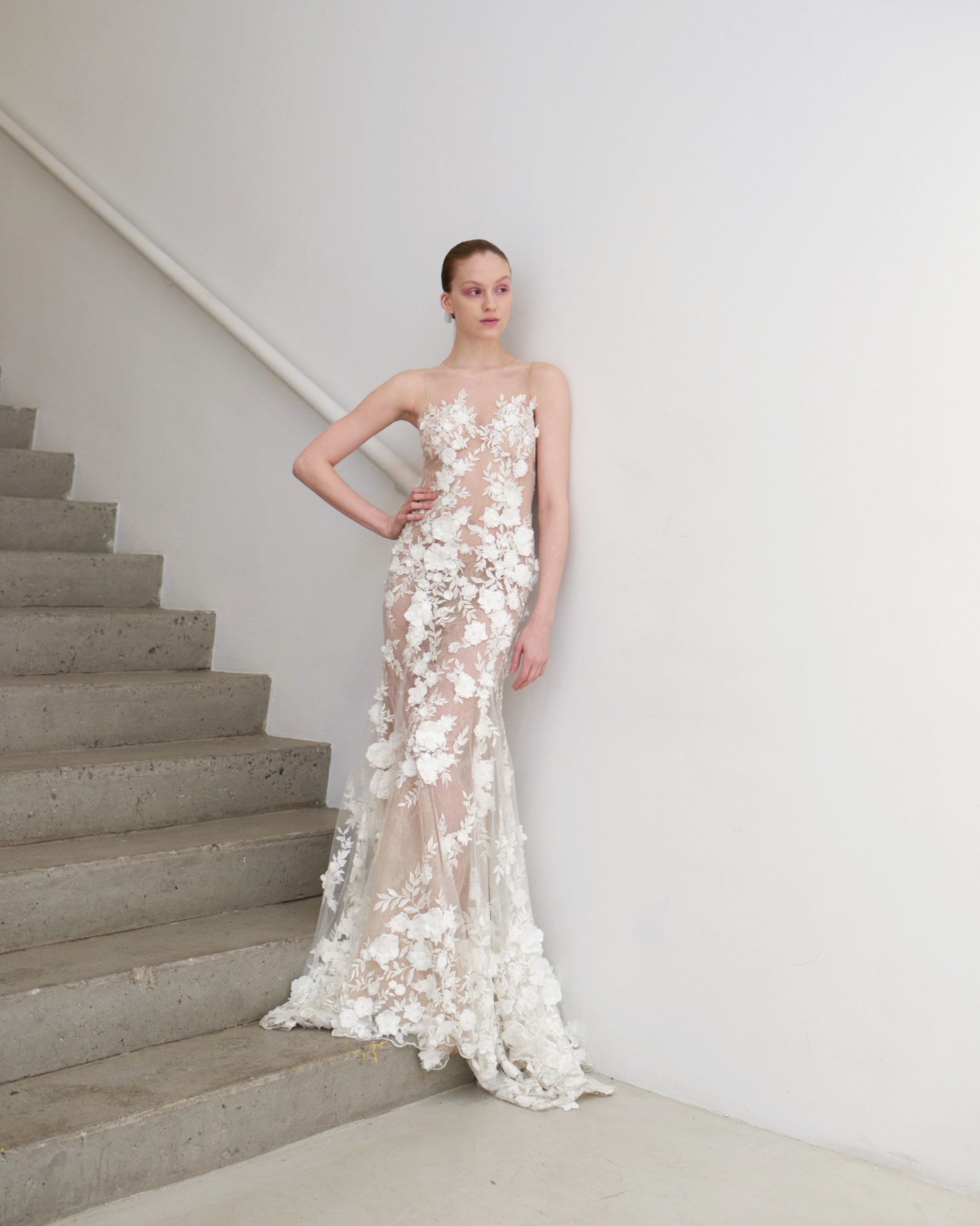 francesca miranda wedding dress spring 2019 sweetheart lace sheath