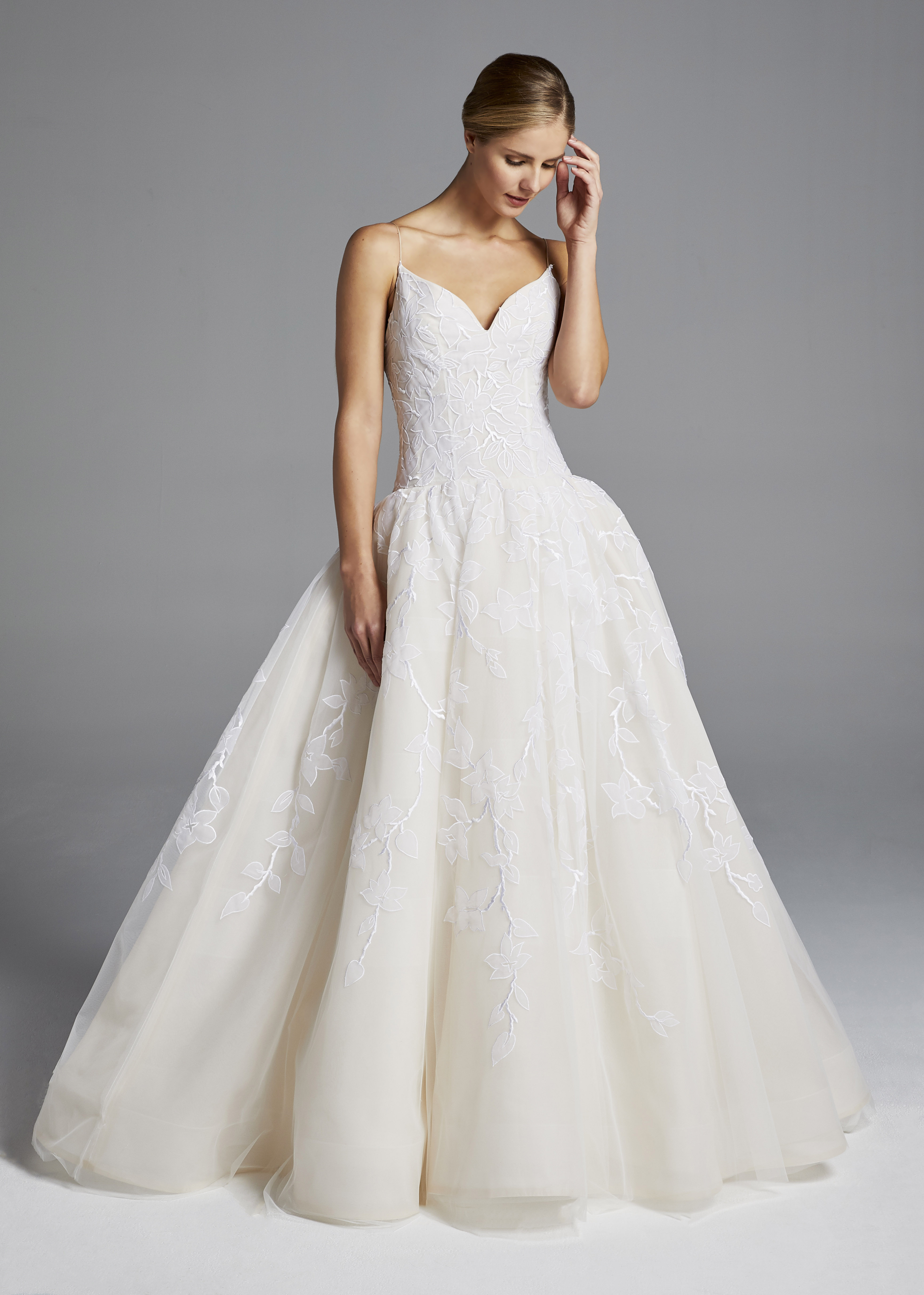 anne barge spaghetti strap ball gown wedding dress spring 2019