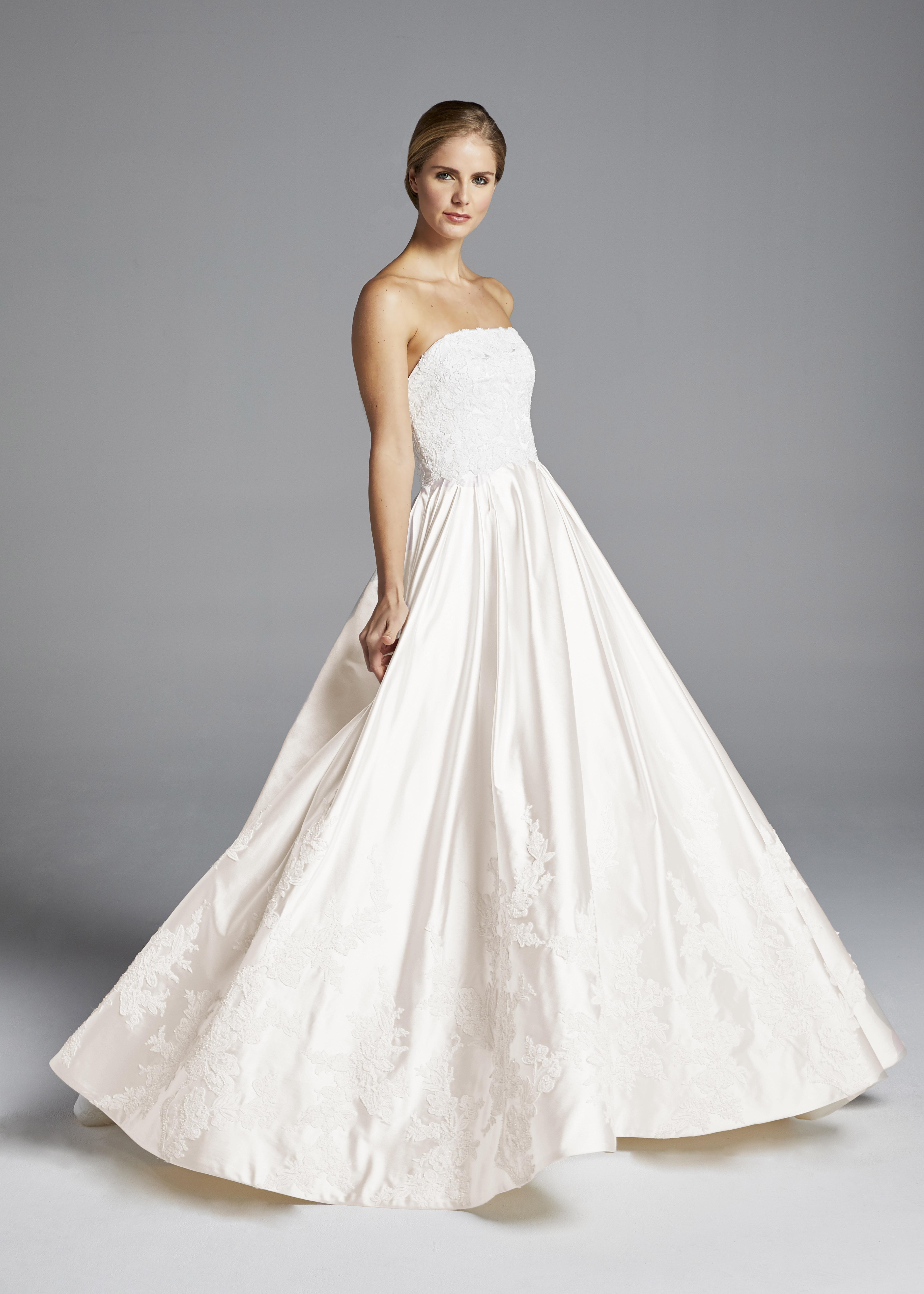 anne barge off the shoulder floral a-line wedding dress spring 2019