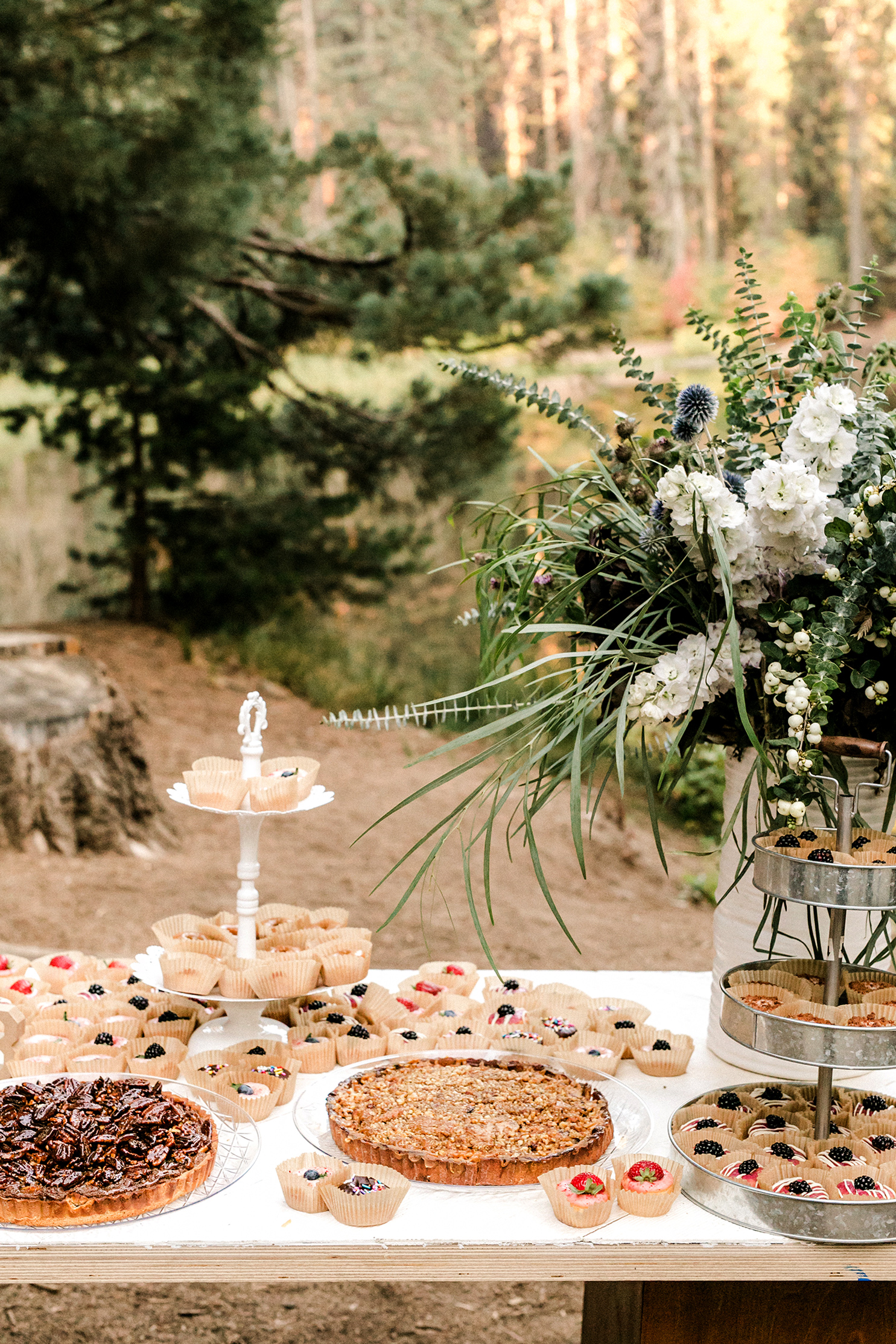 kelly kelsey wedding dessert table