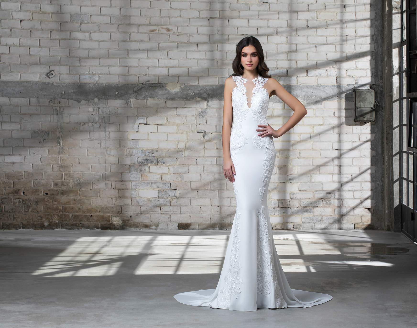 pnina tornai wedding dress spring 2019 lace sleeveless trumpet