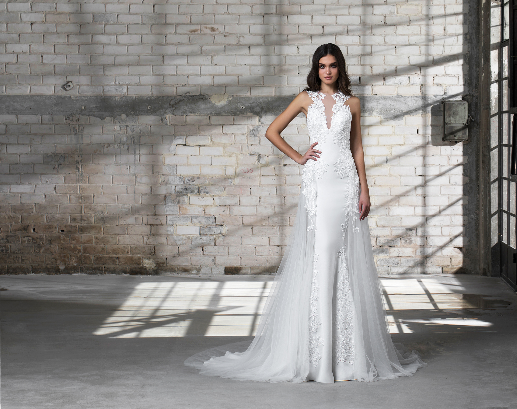 pnina tornai wedding dress spring 2019 lace sleeveless a-line