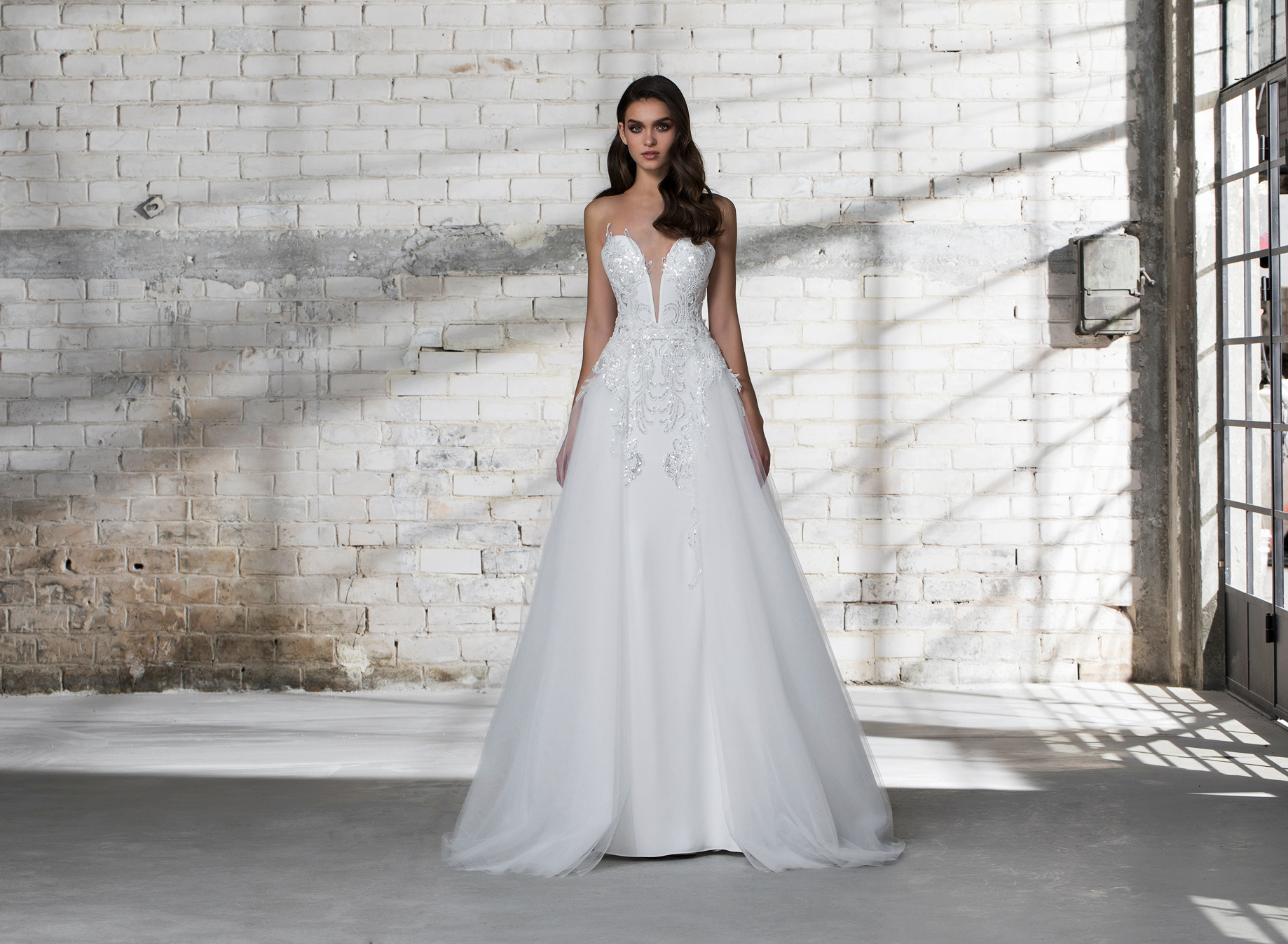 pnina tornai wedding dress spring 2019 beaded a-line sleeveless