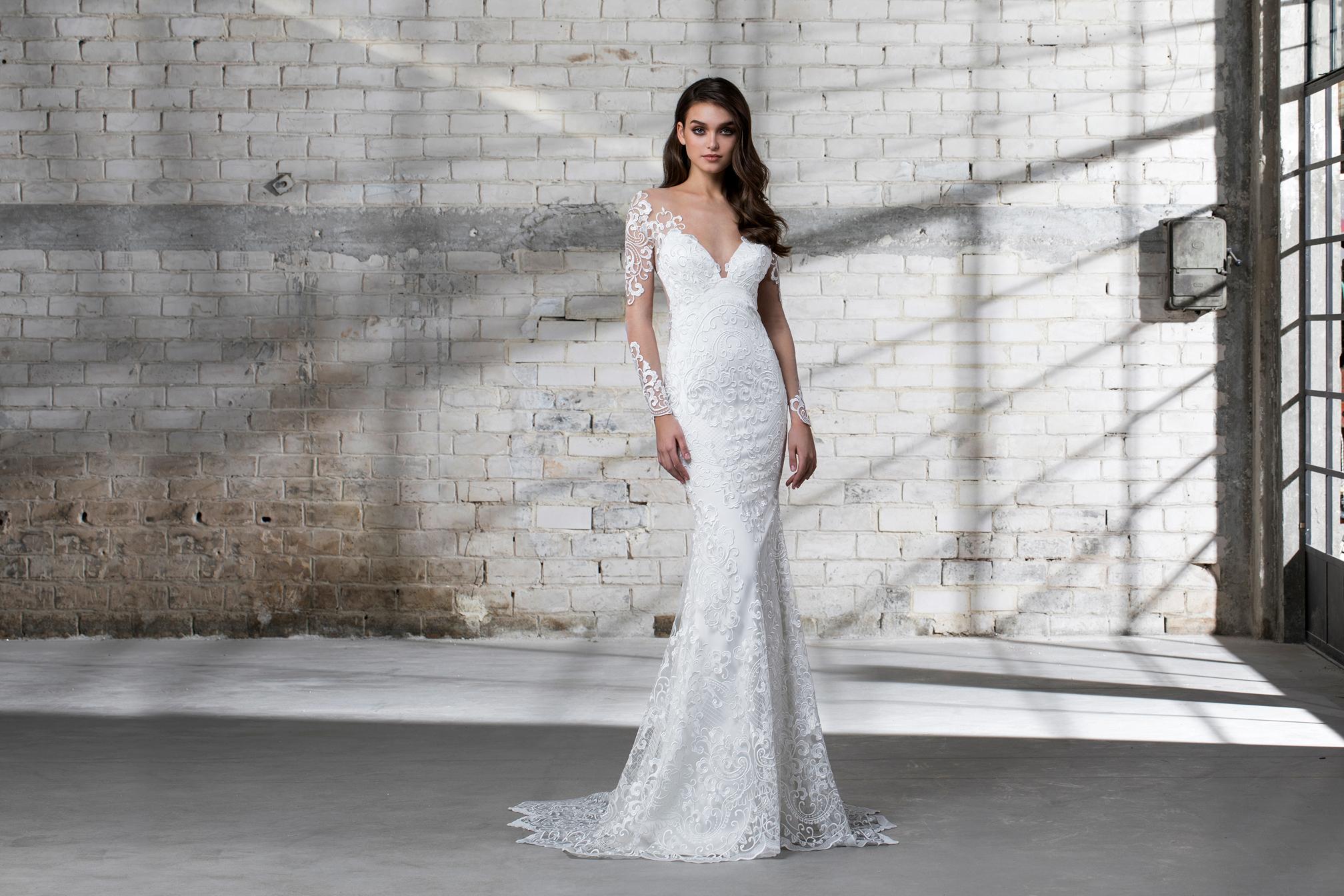 pnina tornai wedding dress spring 2019 trumpet lace off the shoulder