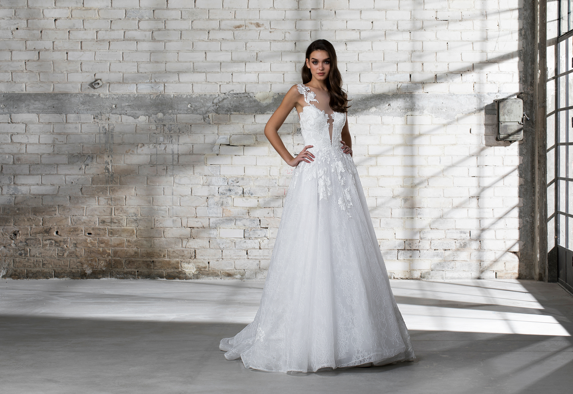 pnina tornai wedding dress spring 2019 a-line sleeveless embellished