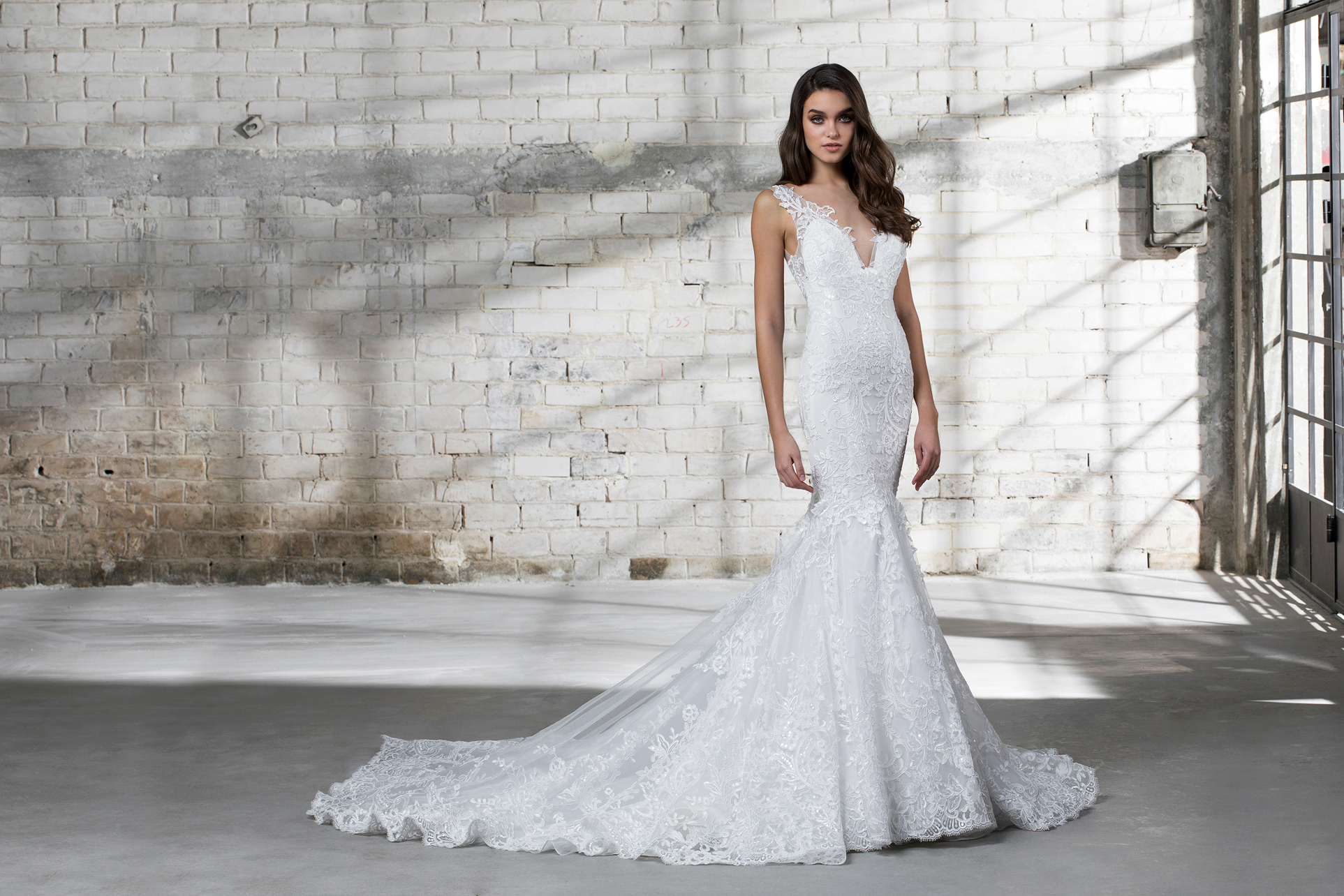 pnina tornai wedding dress spring 2019 lace sleeveless mermaid