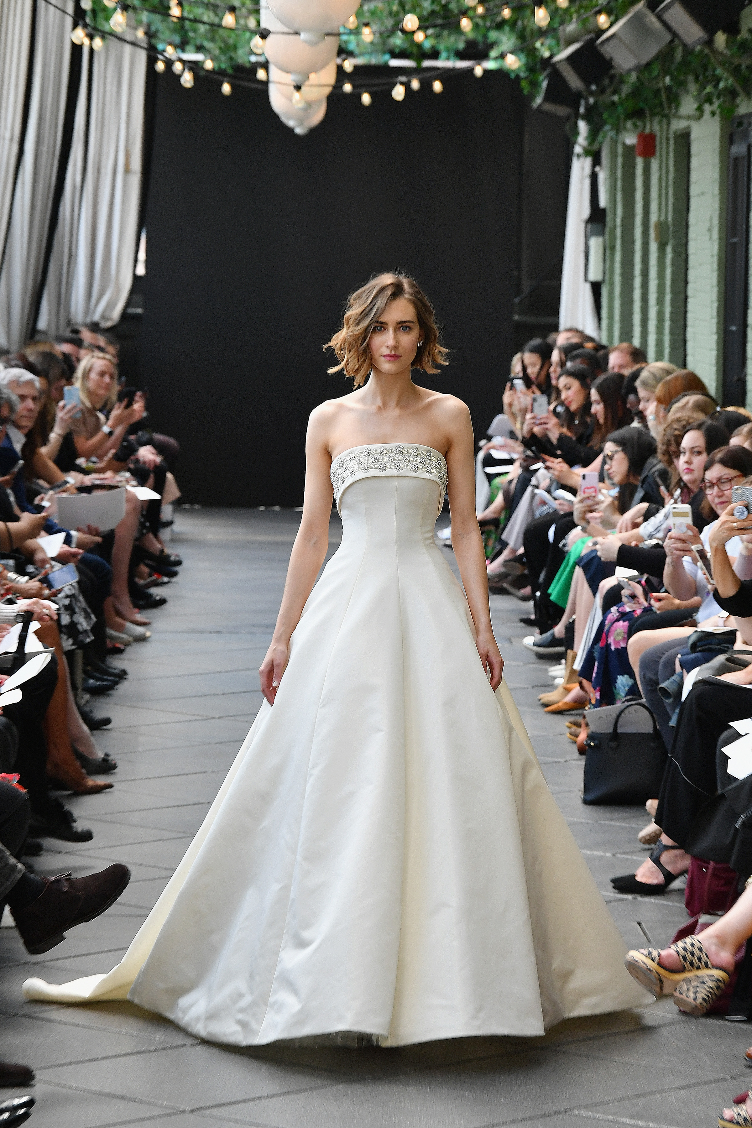 amsale wedding dress spring 2019 a-line strapless