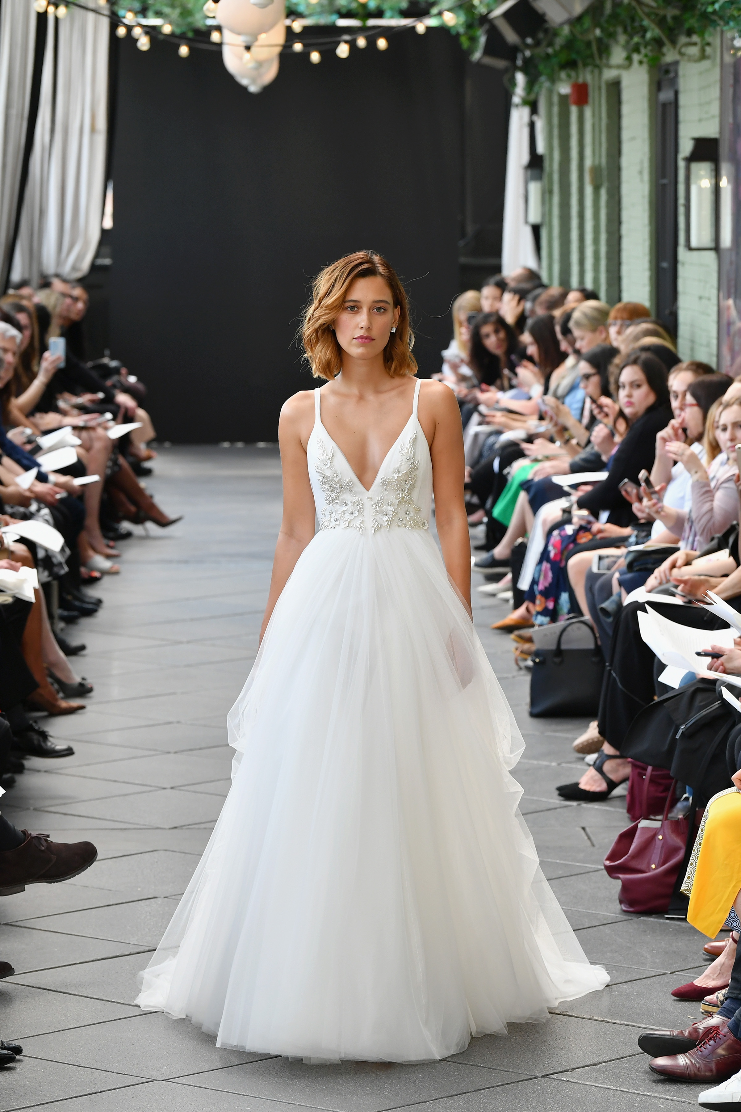 amsale wedding dress spring 2019 v-neck a-line
