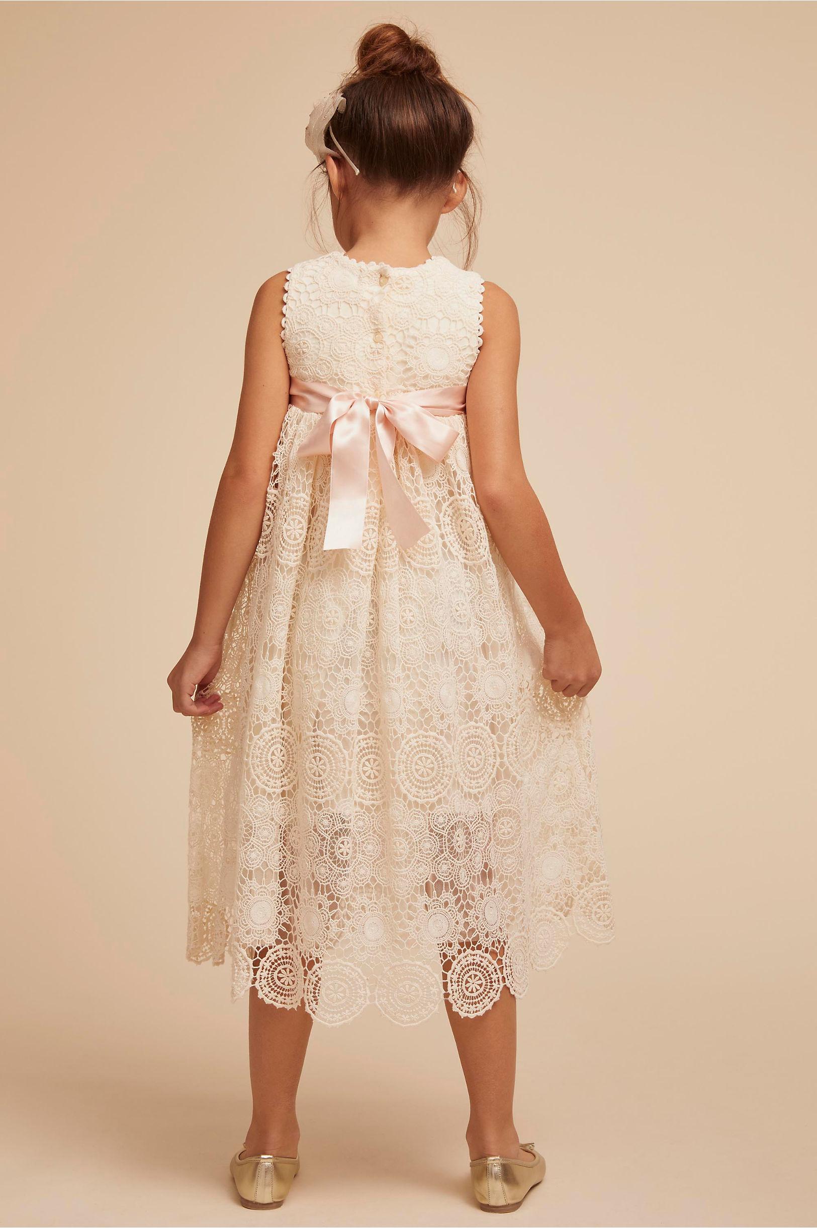 BHLDN Tia Flower Girl Dress with Bow