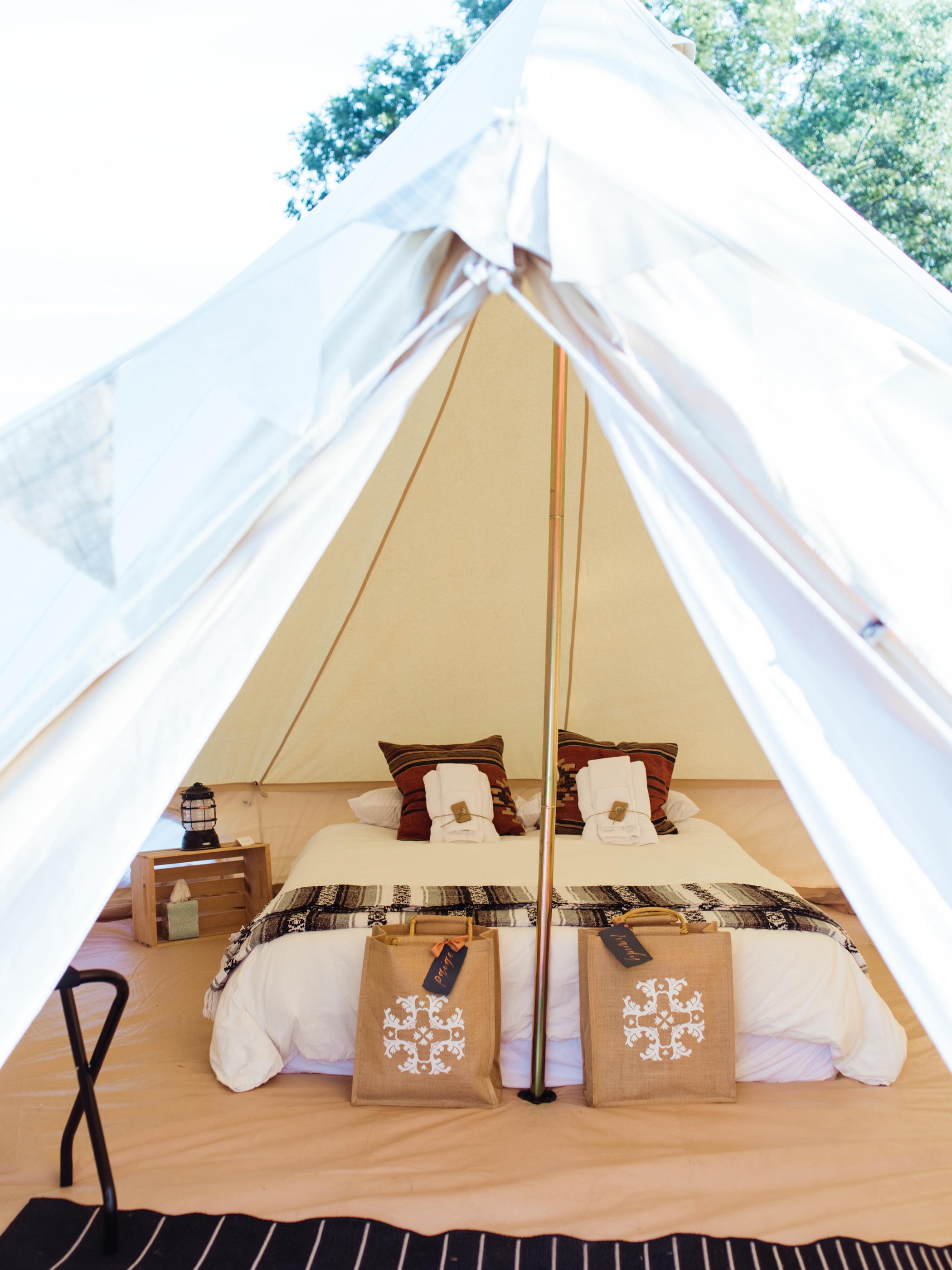 jessika william wedding glamping tent