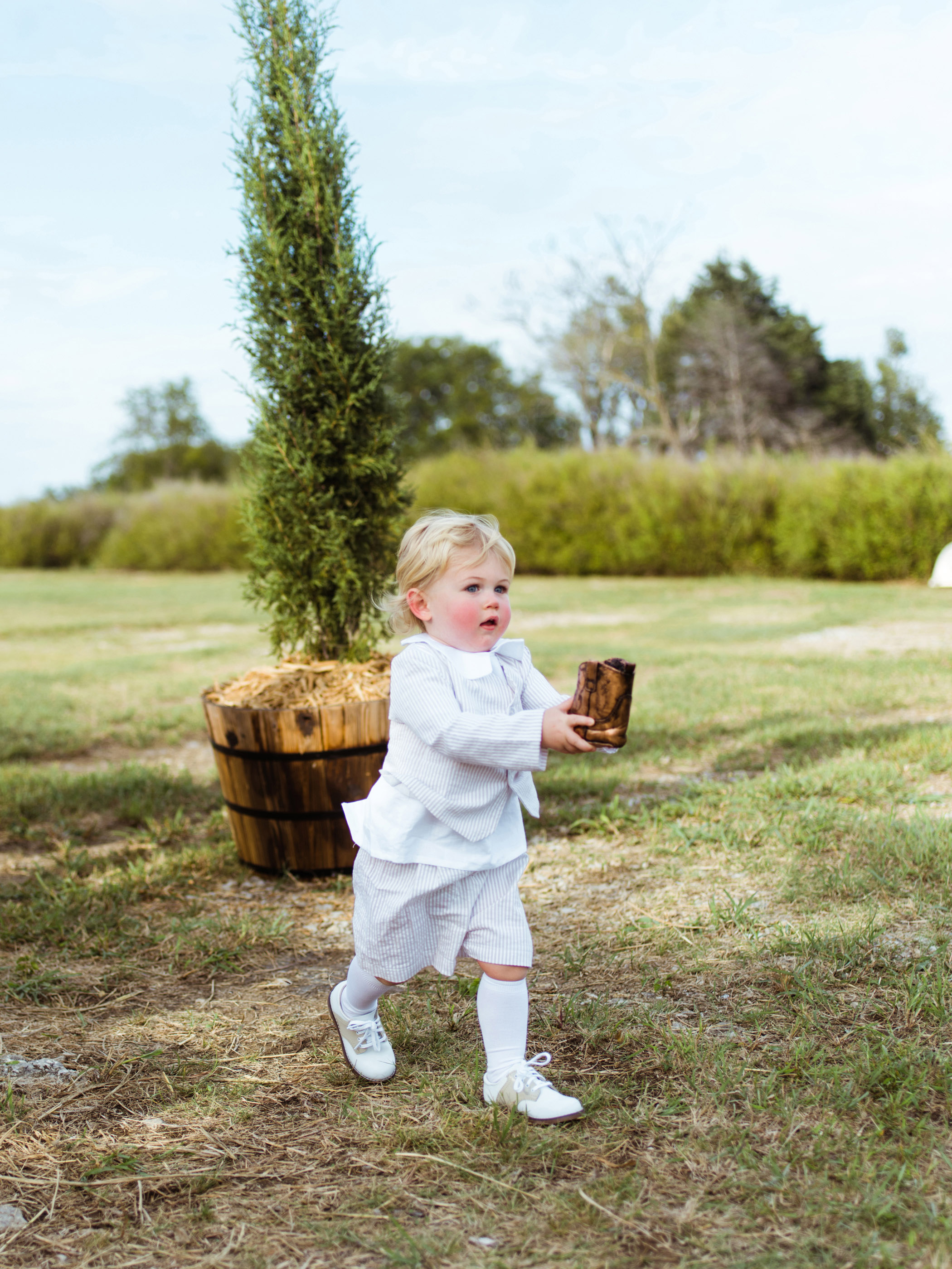 jessika william wedding ringbearer boot
