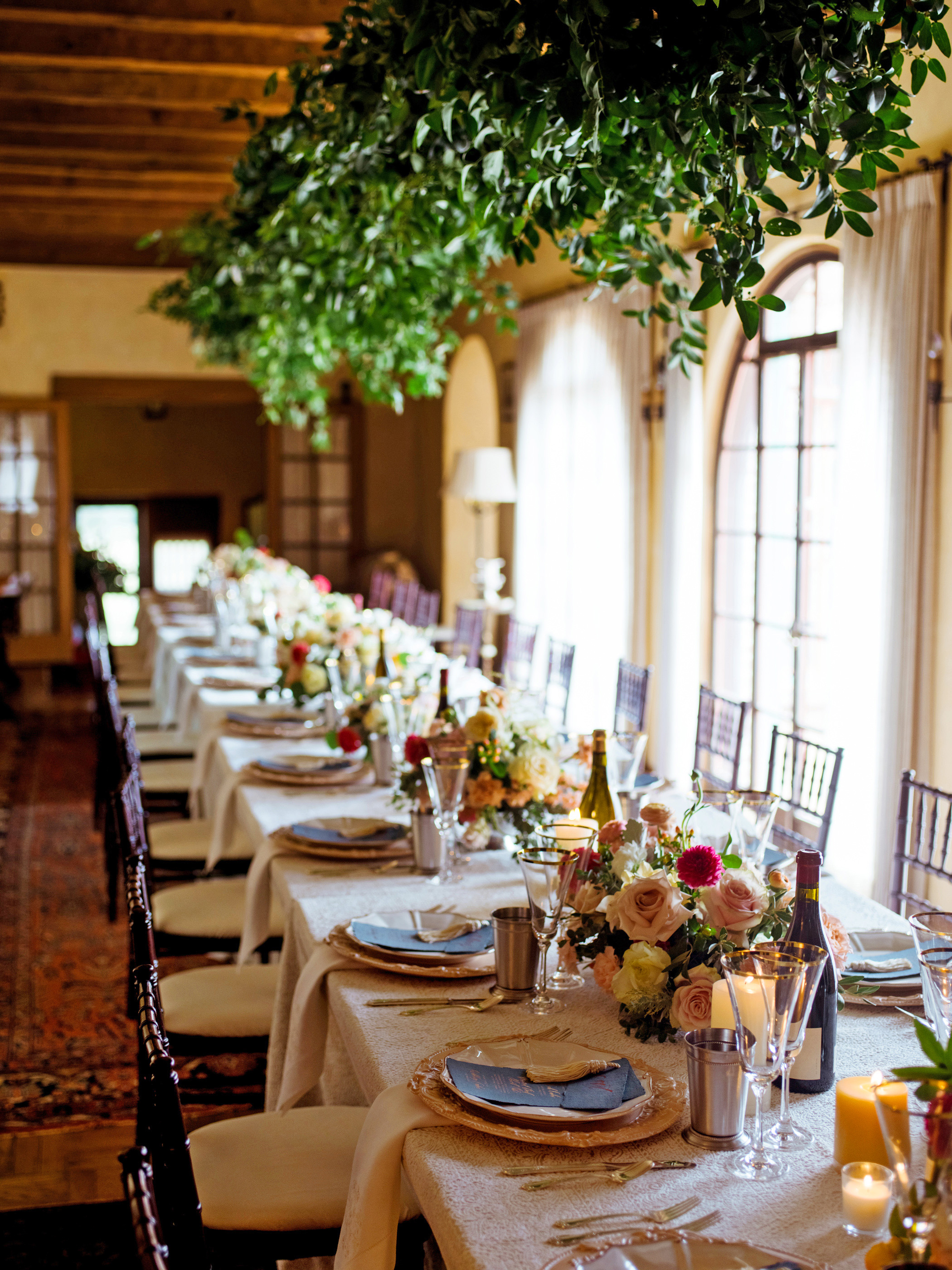 jessika william wedding table