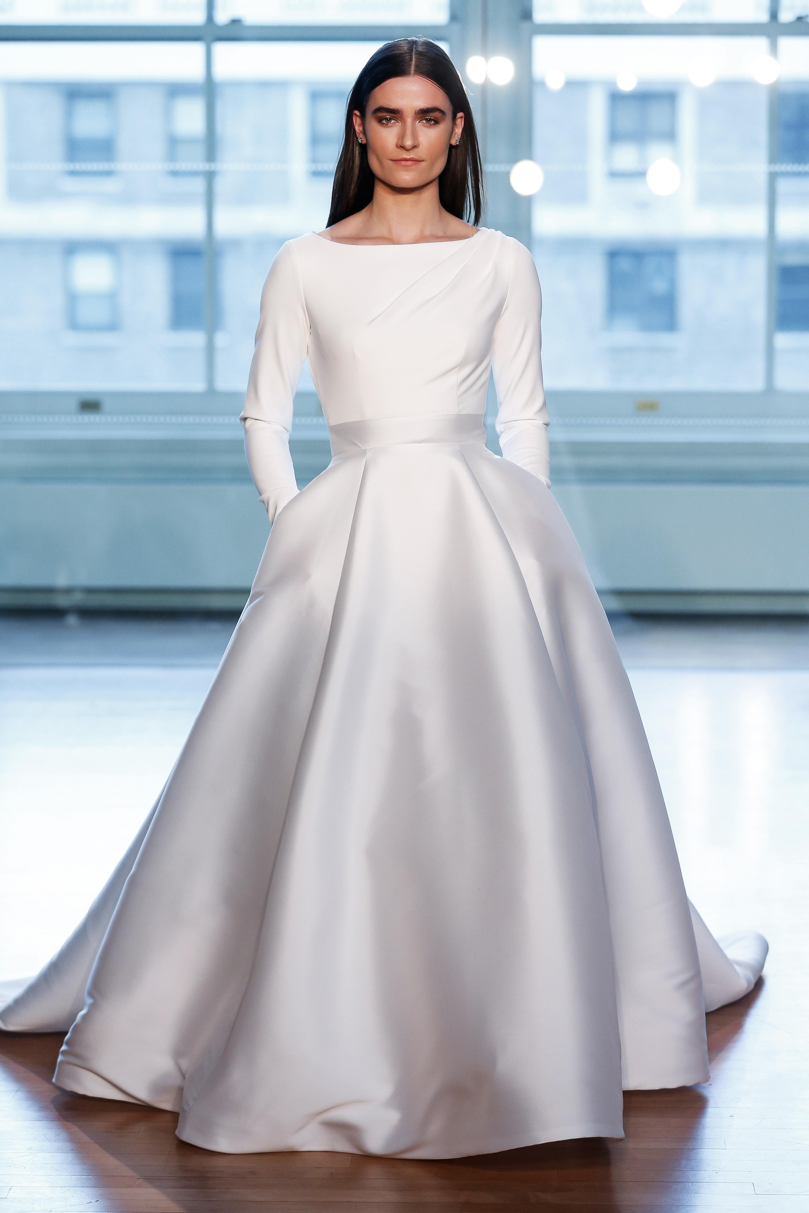 justin alexander wedding dress spring 2019 ball gown long sleeves