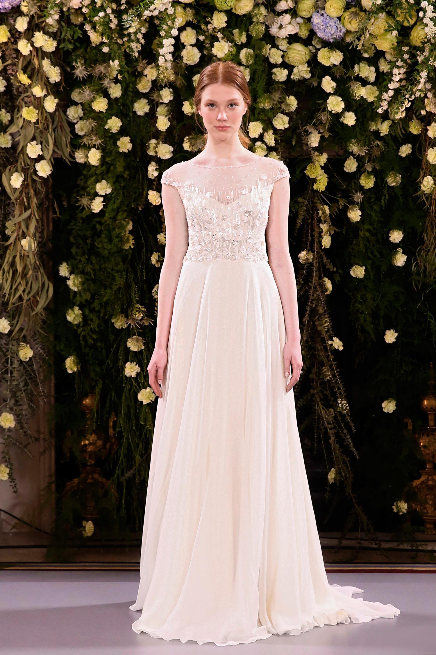 jenny packham wedding dress spring 2019 cap sleeve illusion neck