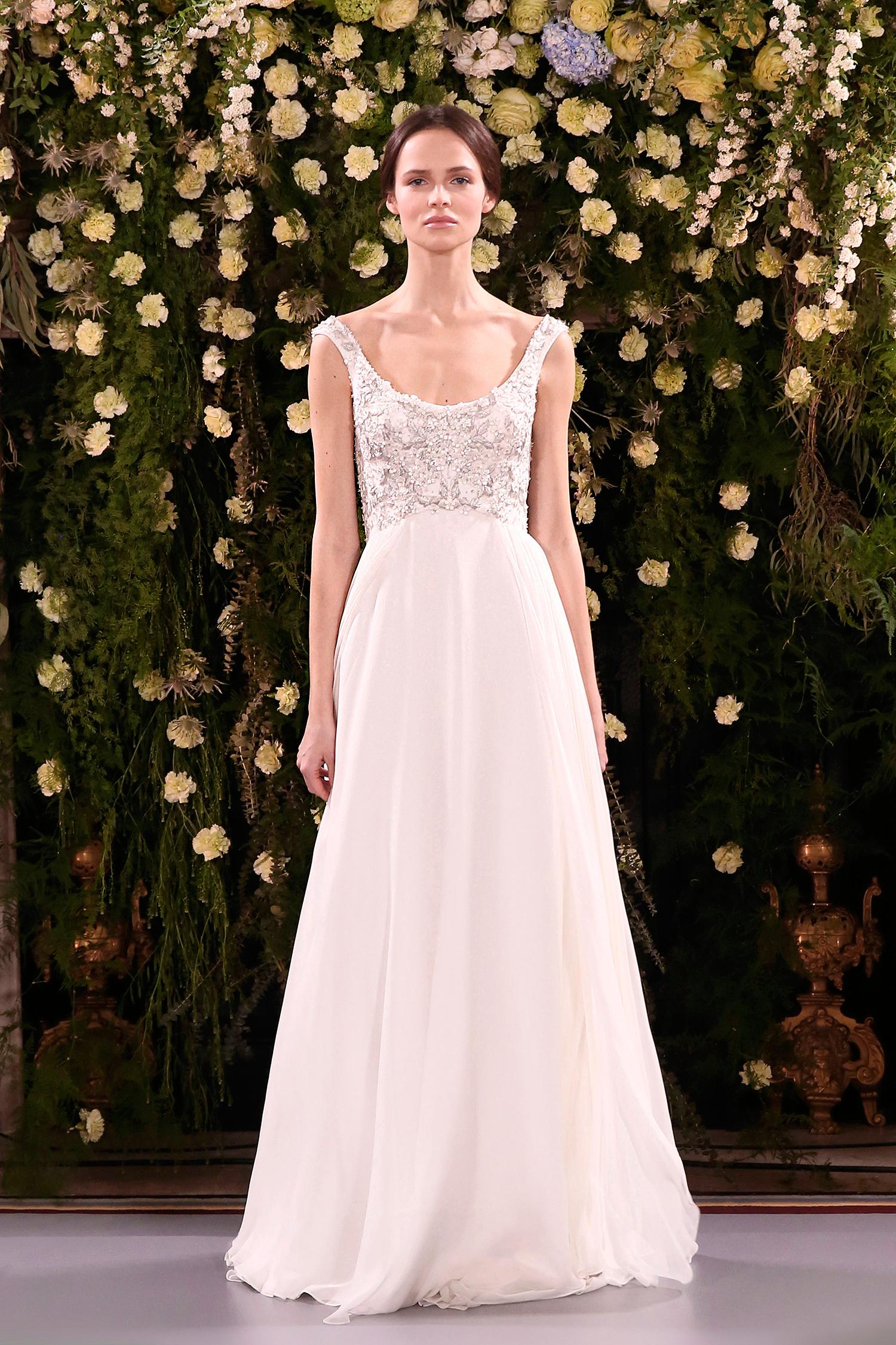 jenny packham wedding dress spring 2019 scoop neck embellished bodice