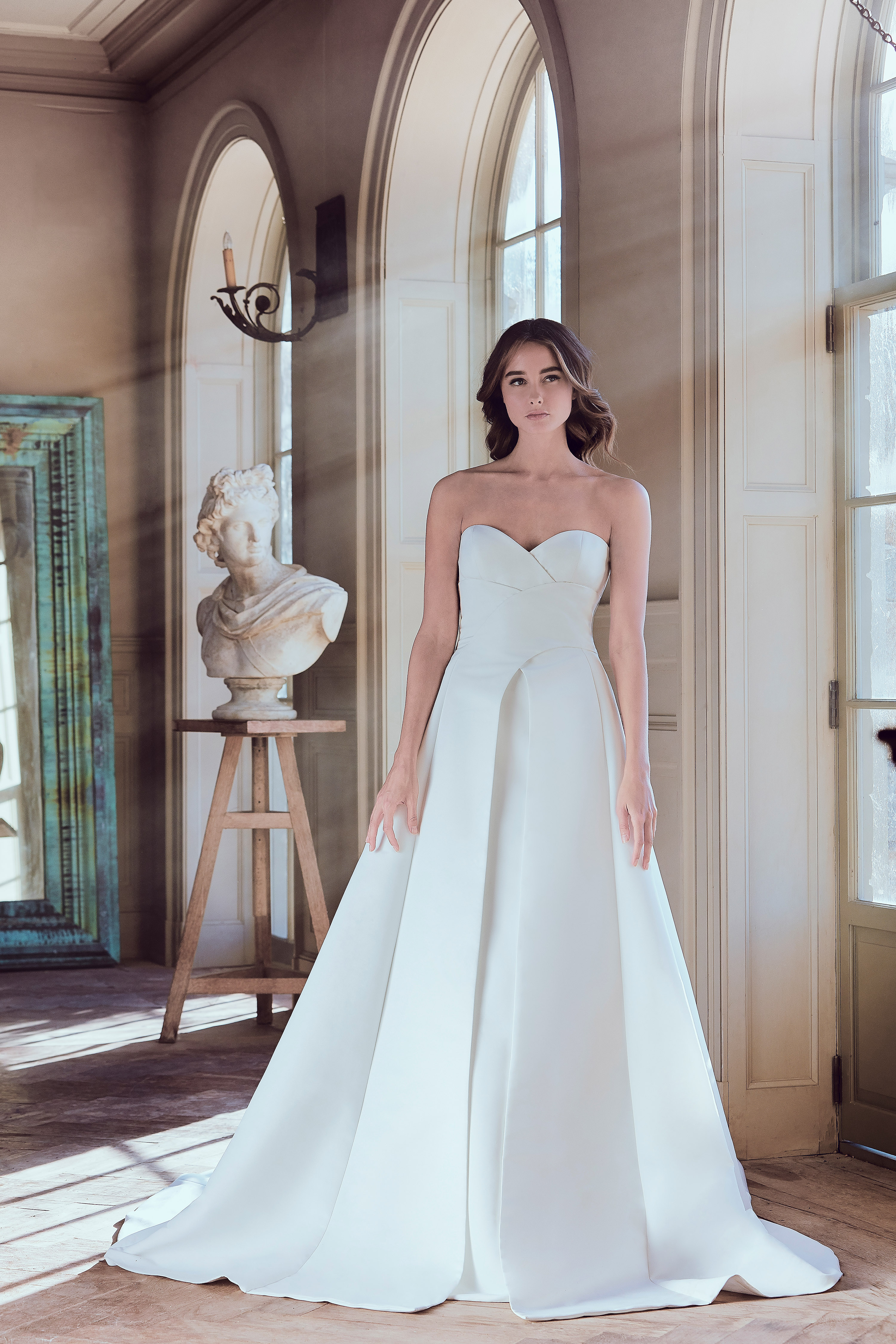 sareh nouri wedding dress spring 2019 sweatheart a-line pleats