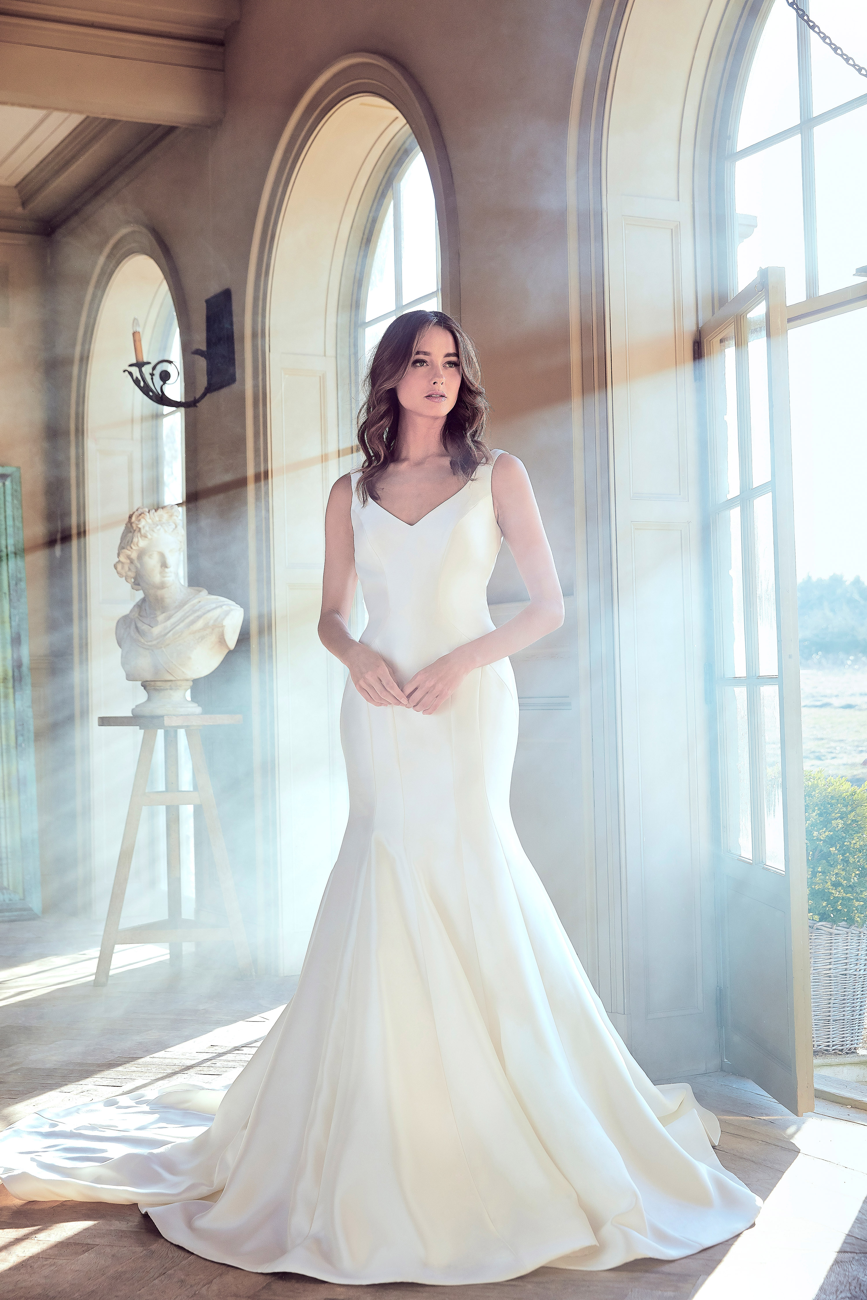 sareh nouri wedding dress spring 2019 sleeveless trumpet