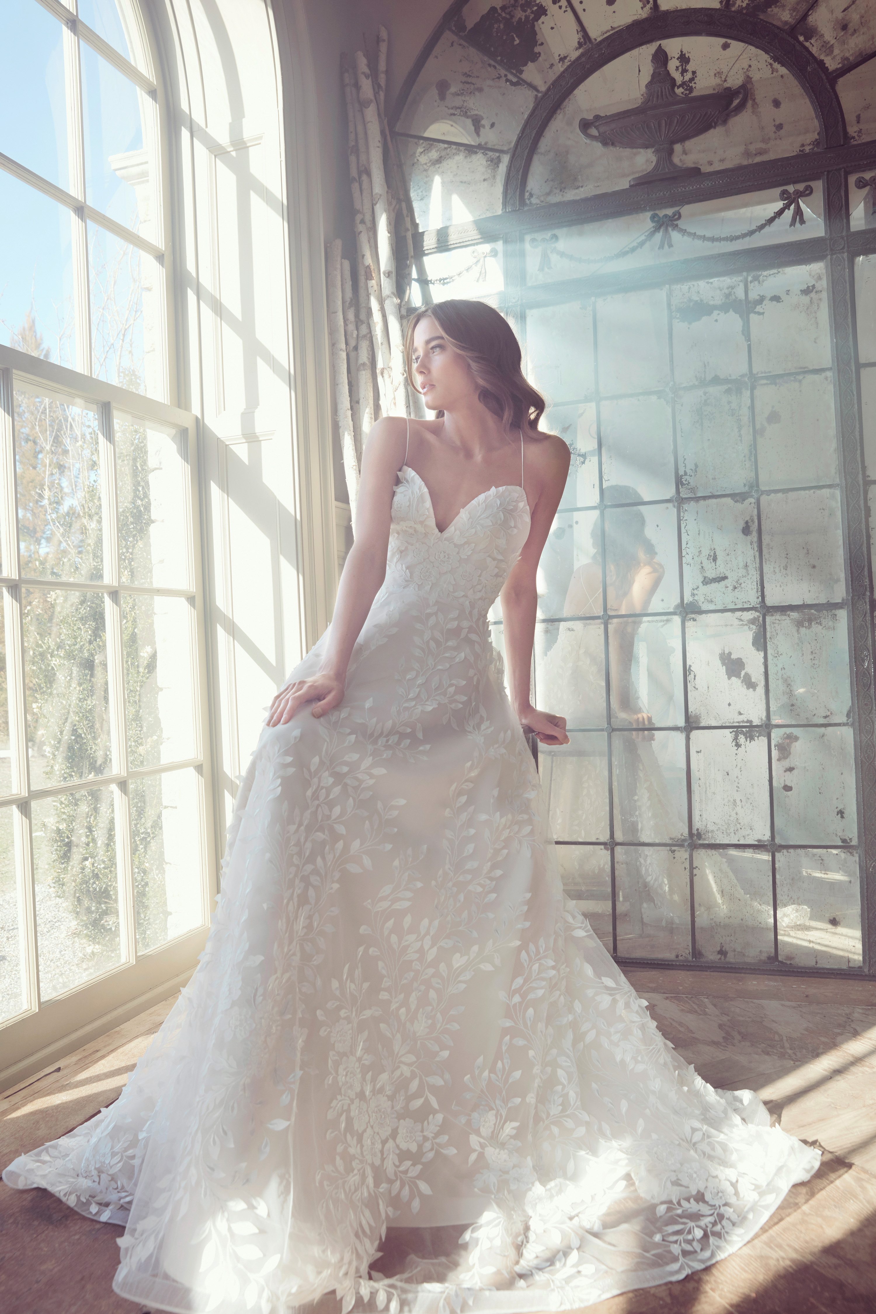 sareh nouri wedding dress spring 2019 spaghetti strap sweatheart