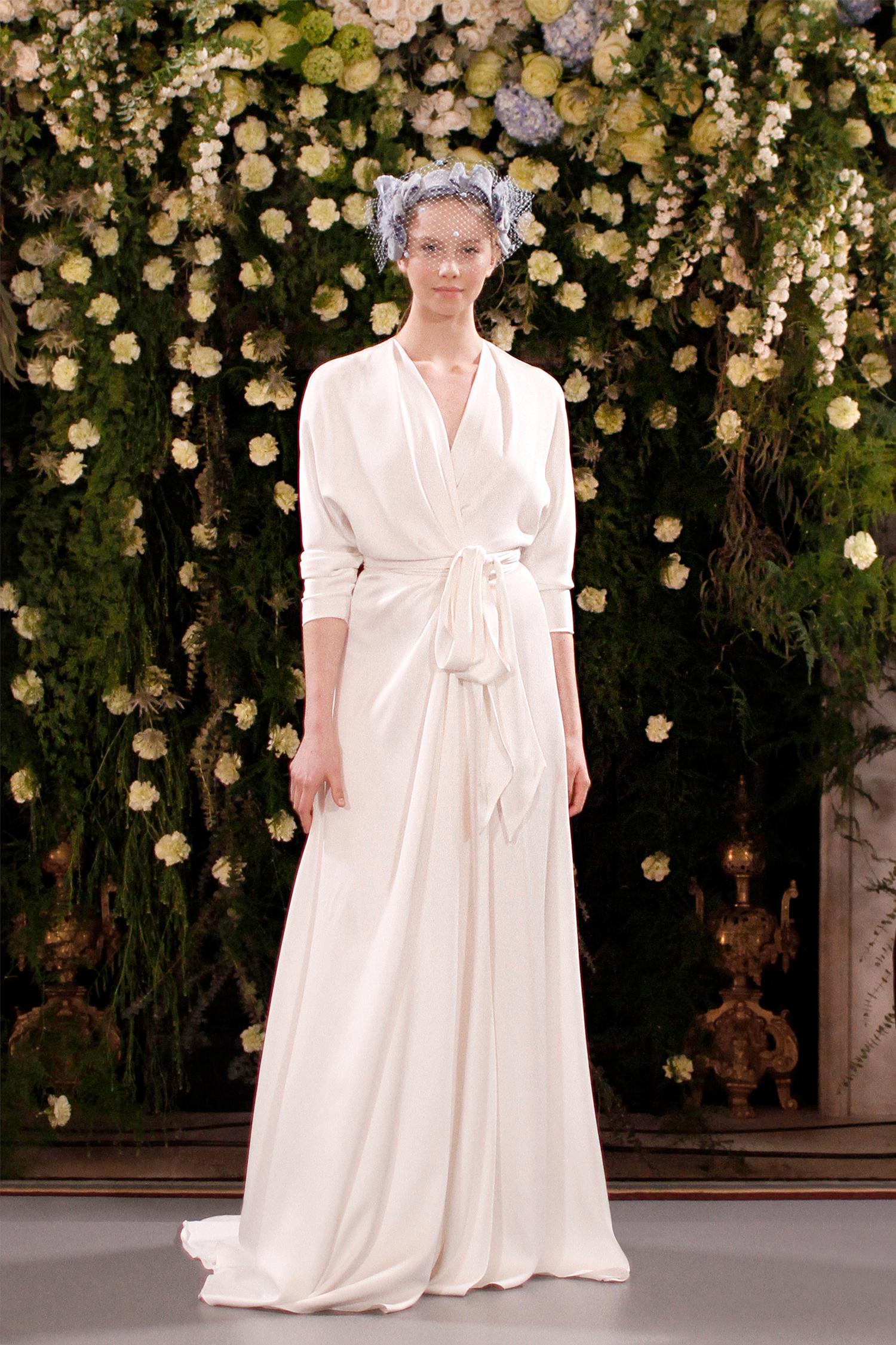 jenny packham wedding dress spring 2019 long-sleeved wrap with sash