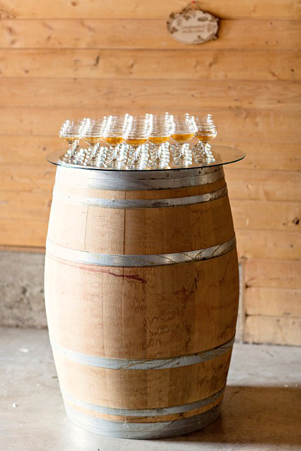 drinks on barrel
