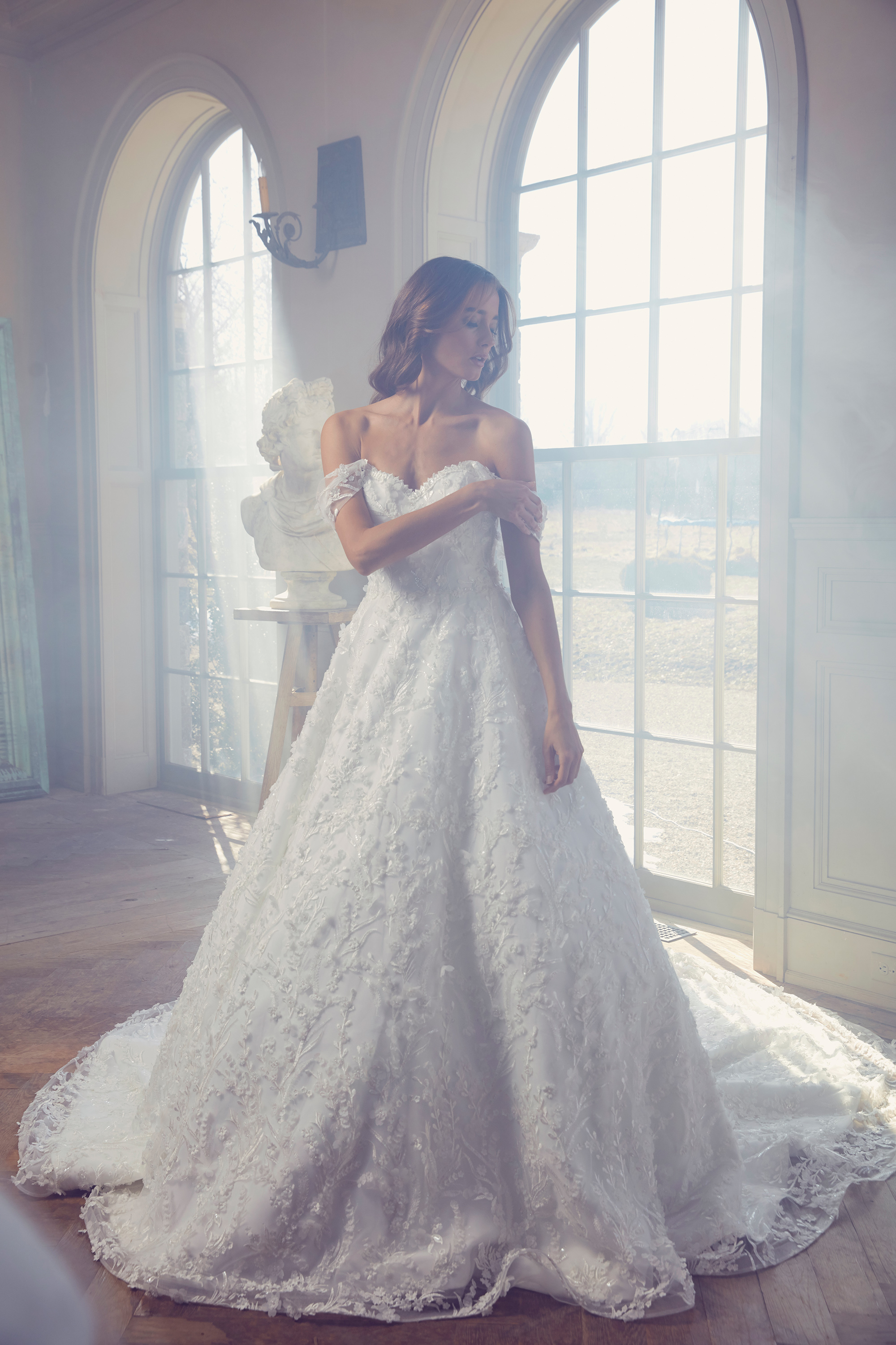 sareh nouri wedding dress spring 2019 sweetheart off the shoulder a-line gown