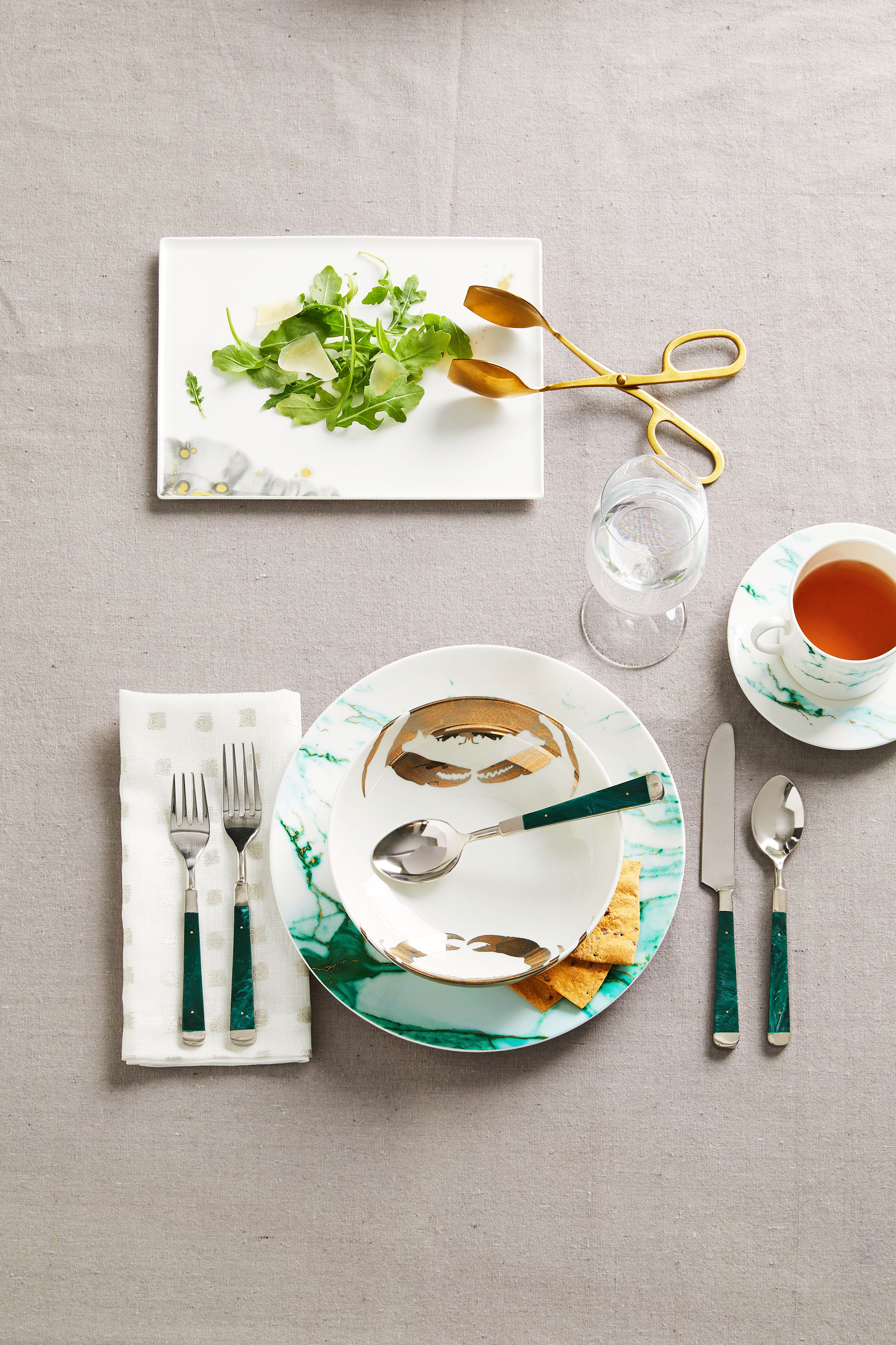 patterned dishes