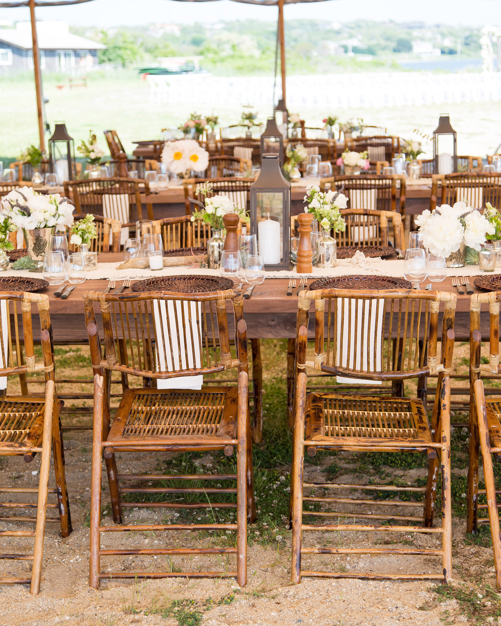 wedding reception chairs tables