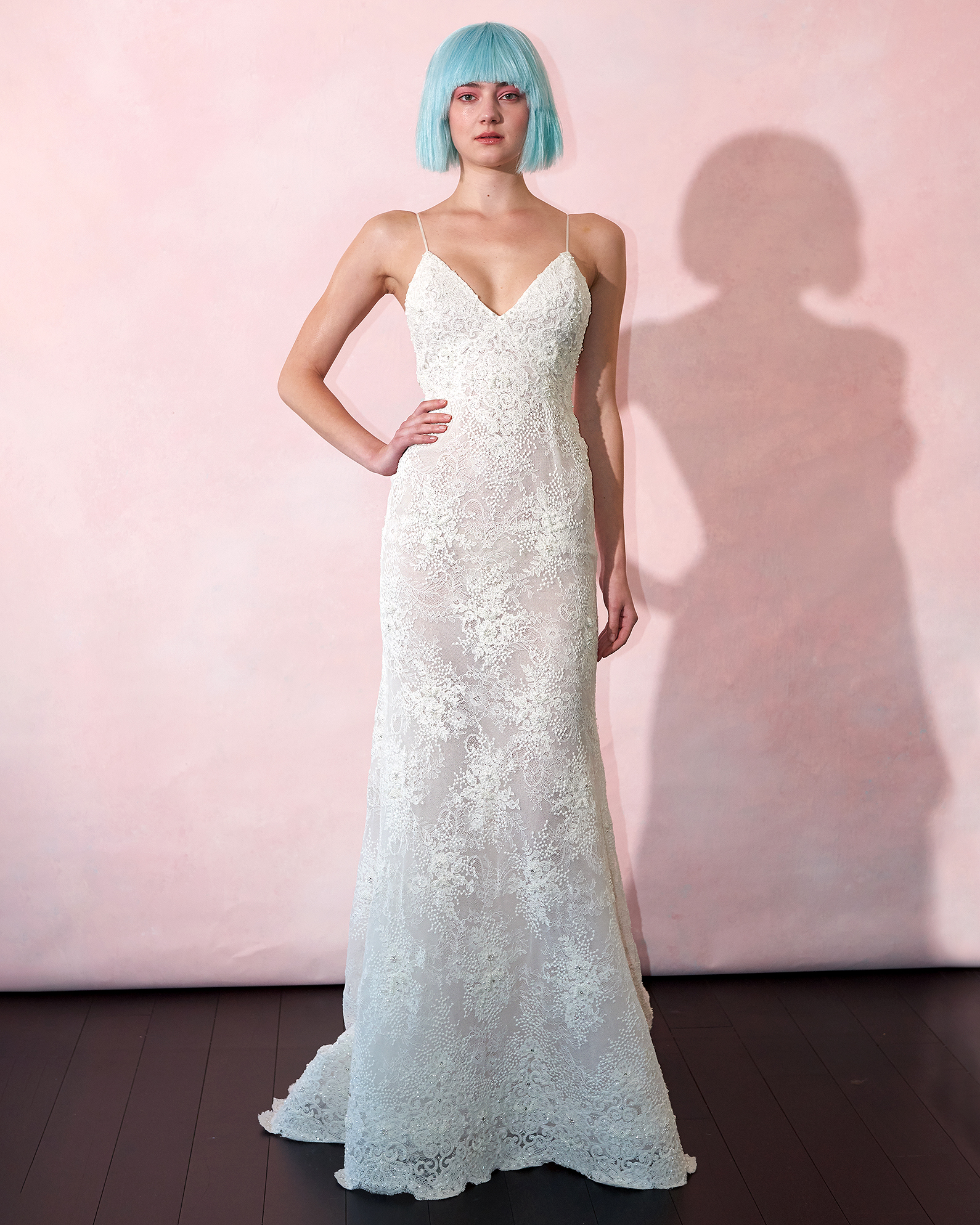 isabelle armstrong wedding dress spring 2019 spaghetti-strap v-neck sheath