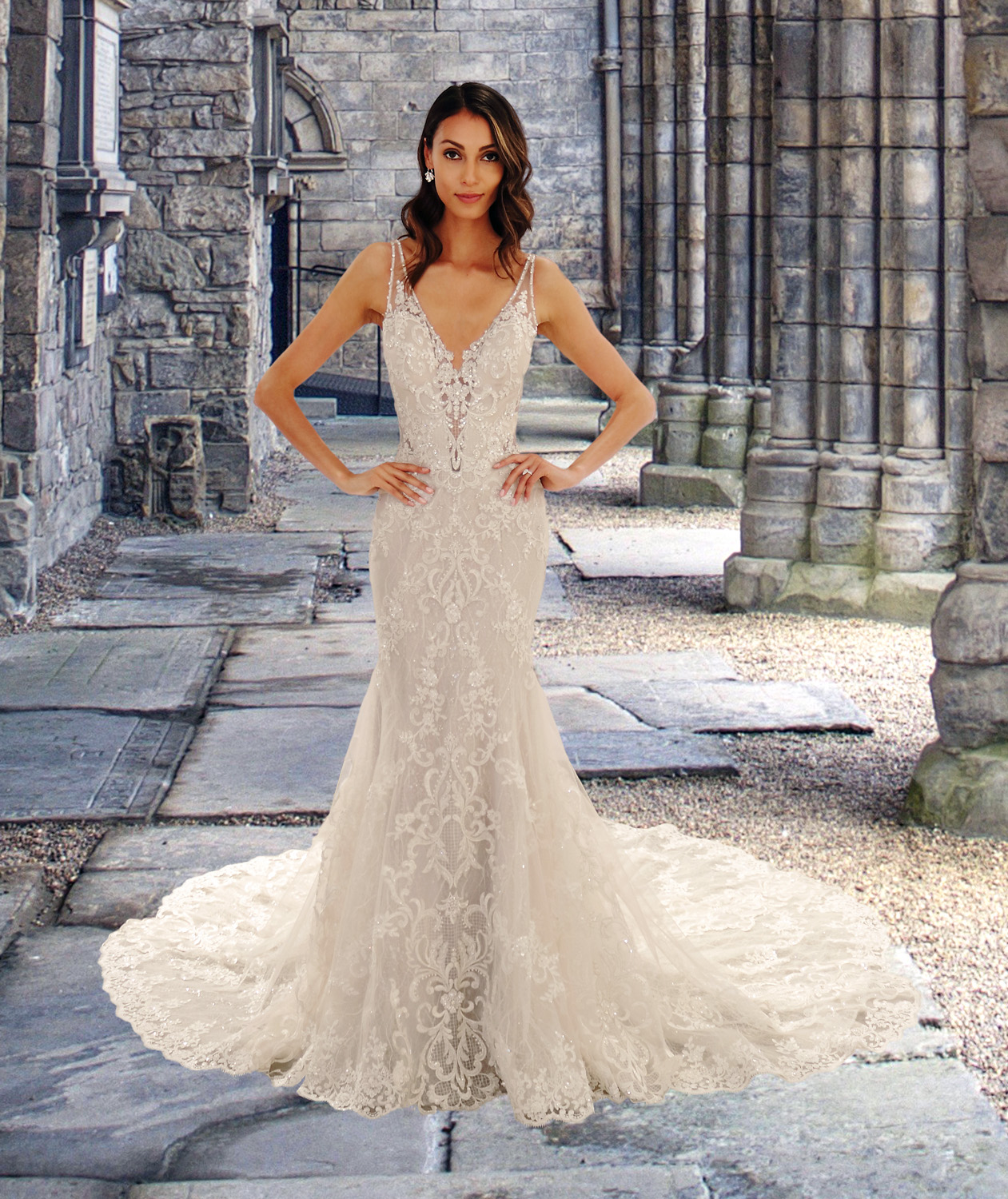 Eve of Milady wedding dress spring 2019 v-neck mermaid gown