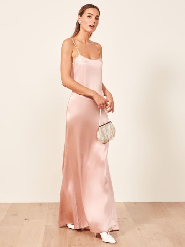 reformation athena blush dress