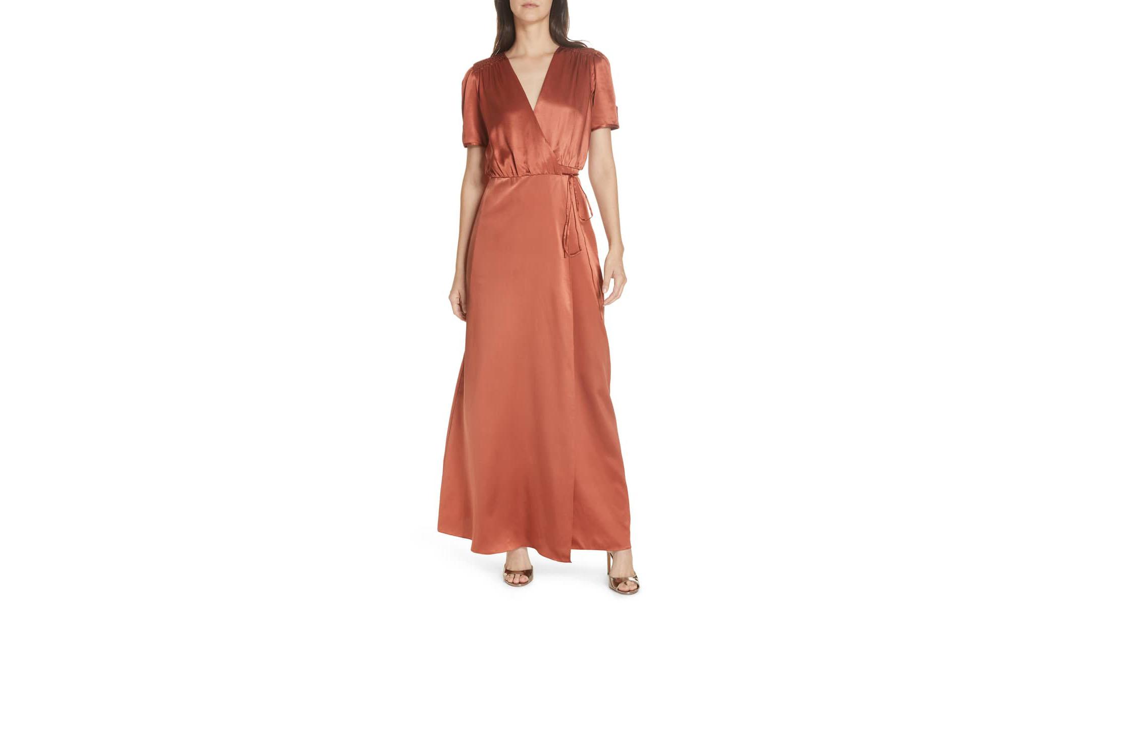 saloni lea wrap dress