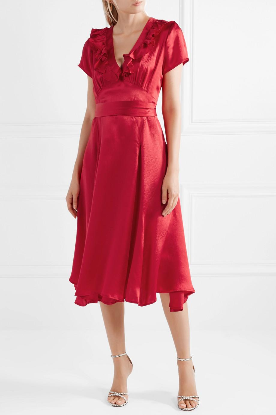 rhode resort celia cutout silk wrap dress